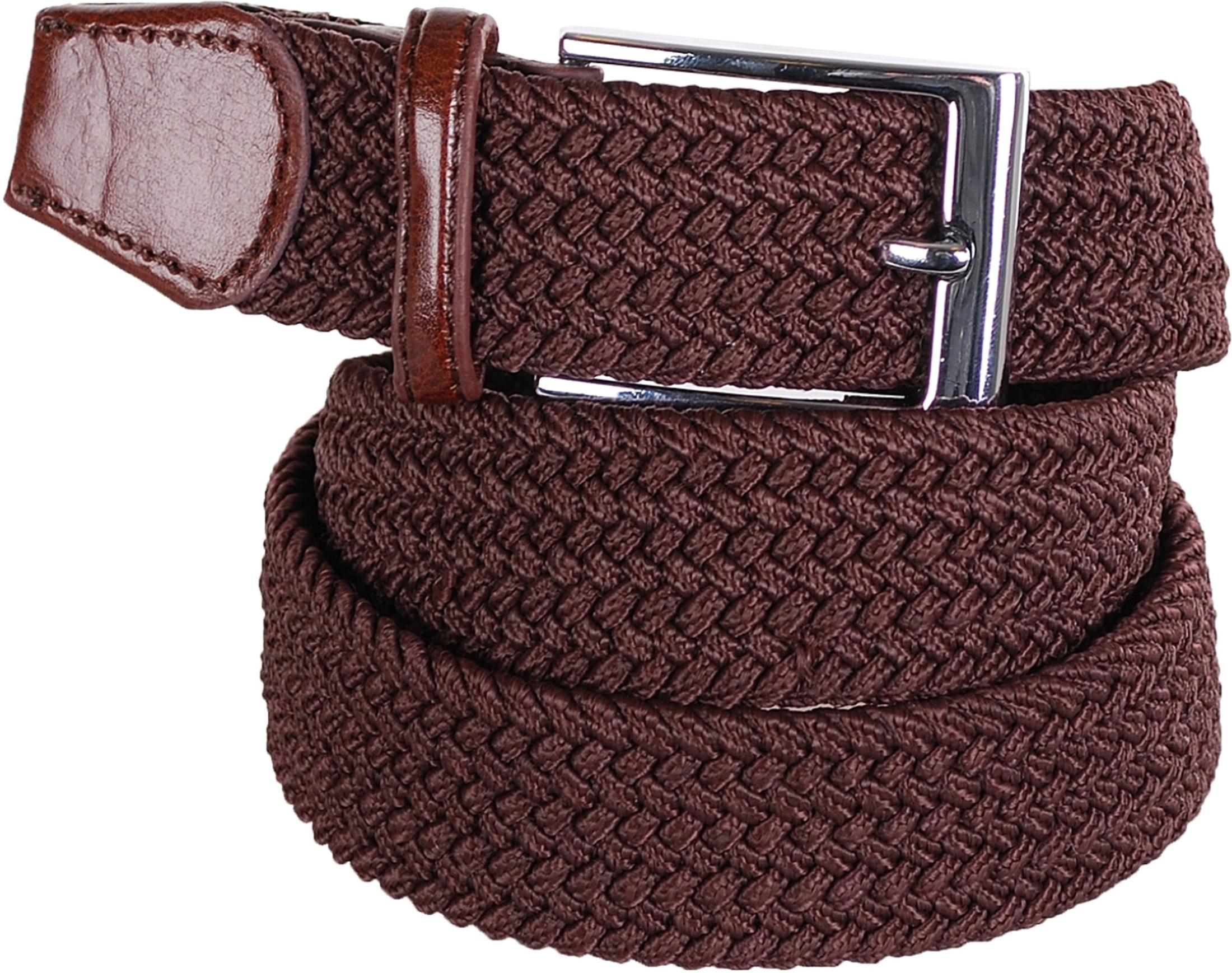 nieuwe collectie betrouwbare kwaliteit koop uitverkoop Geweven Riem Bruin Riem Elastisch Bruin