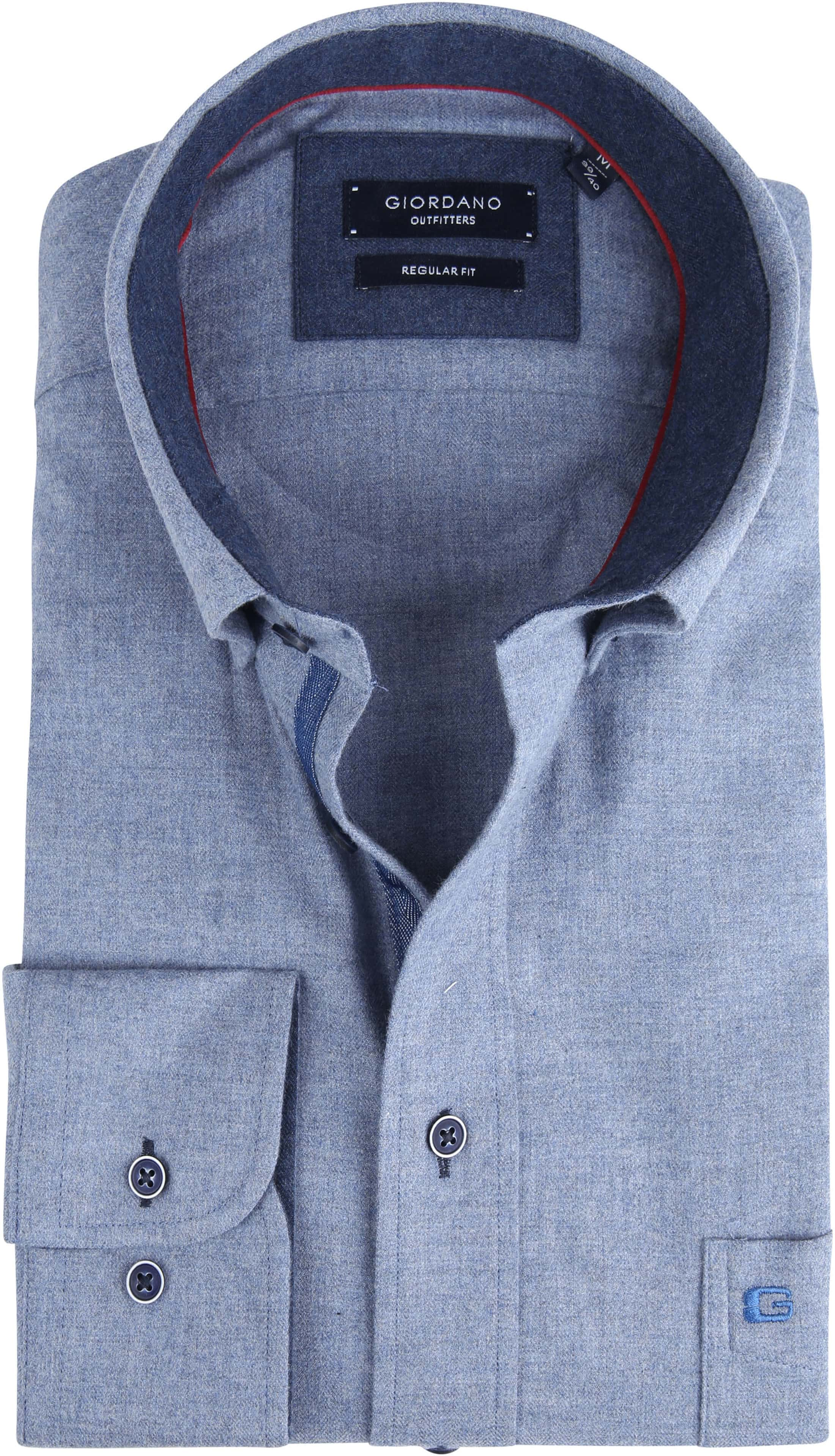 Giordano Kennedy Shirt Melange Blue foto 0