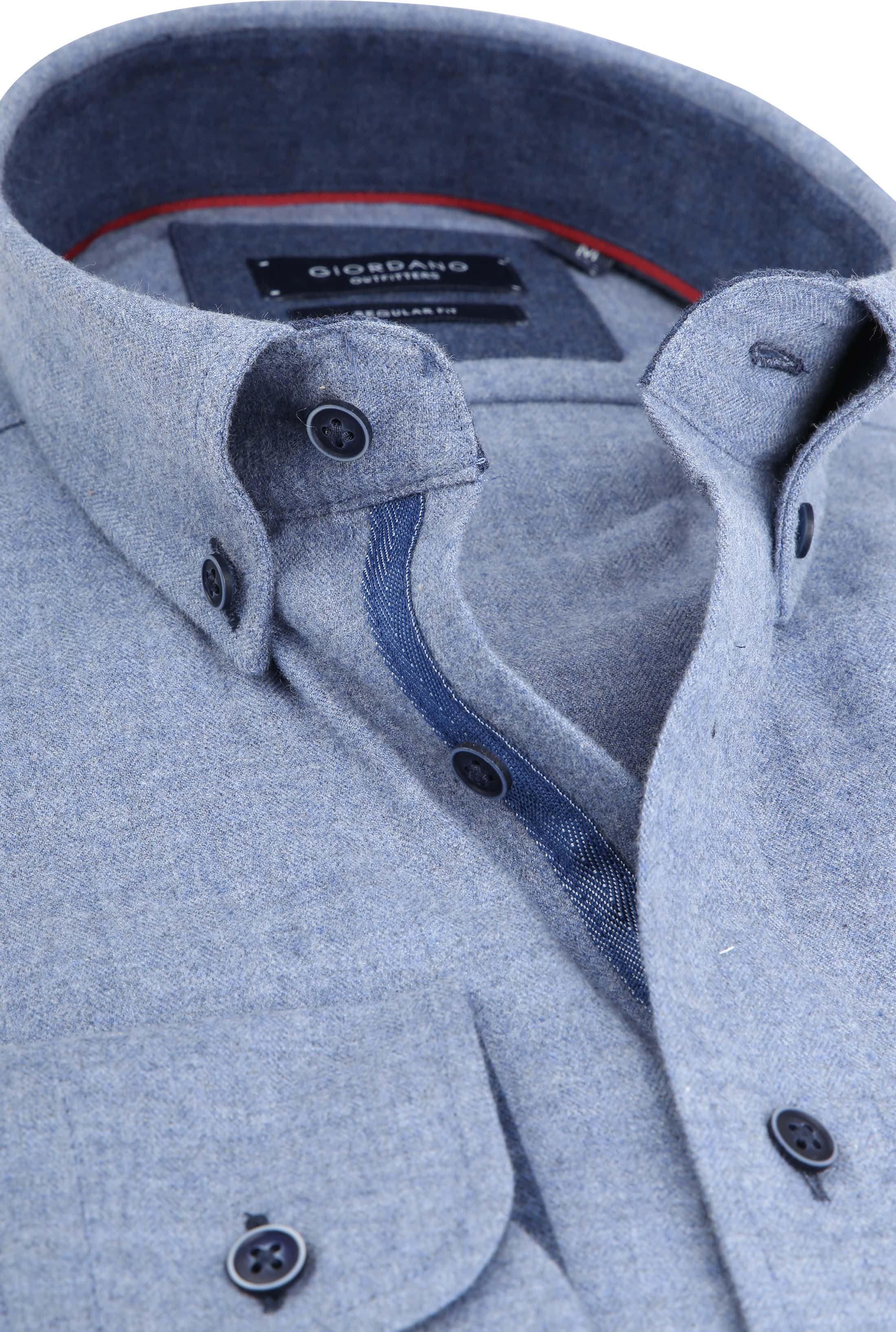 Giordano Kennedy Shirt Melange Blue foto 1