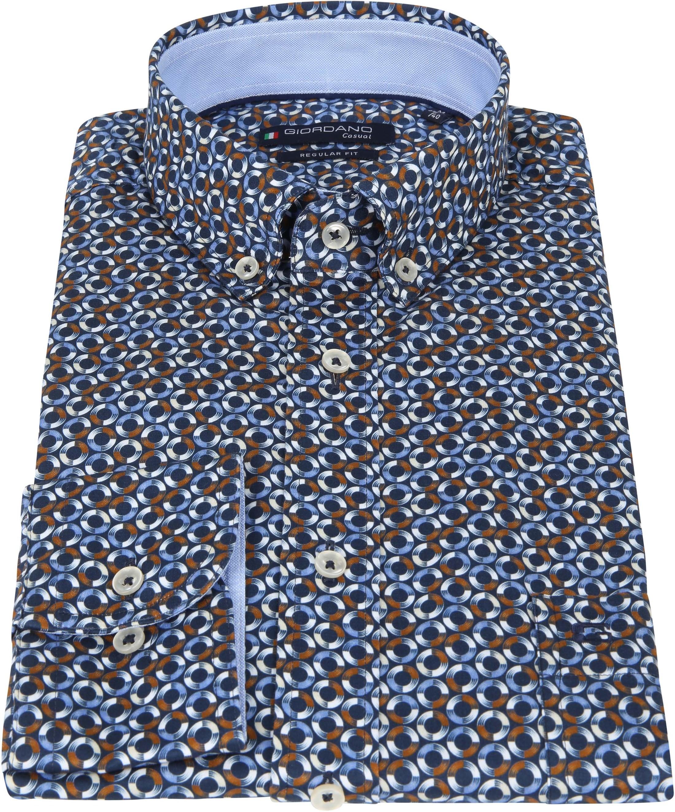 Giordano Overhemd Ivy Spriaal Bruin