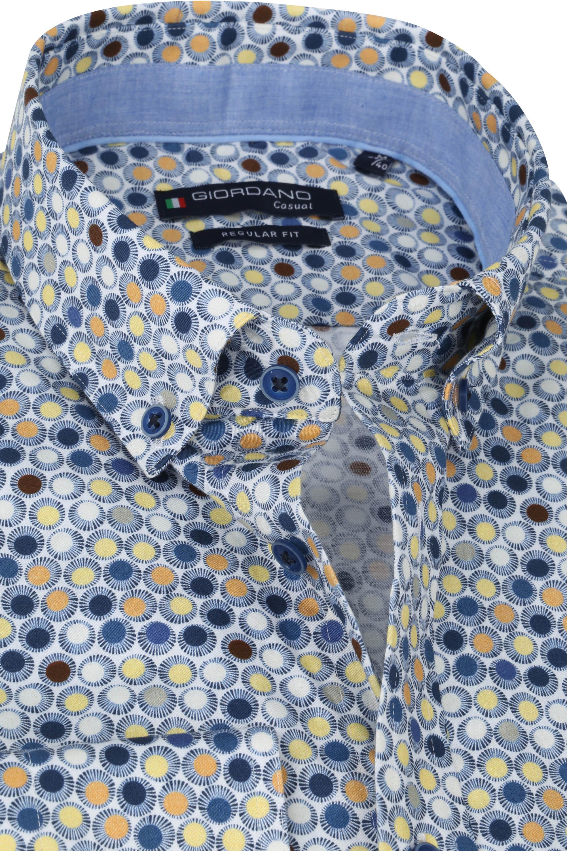 Giordano Overhemd Ivy Stippen Geel