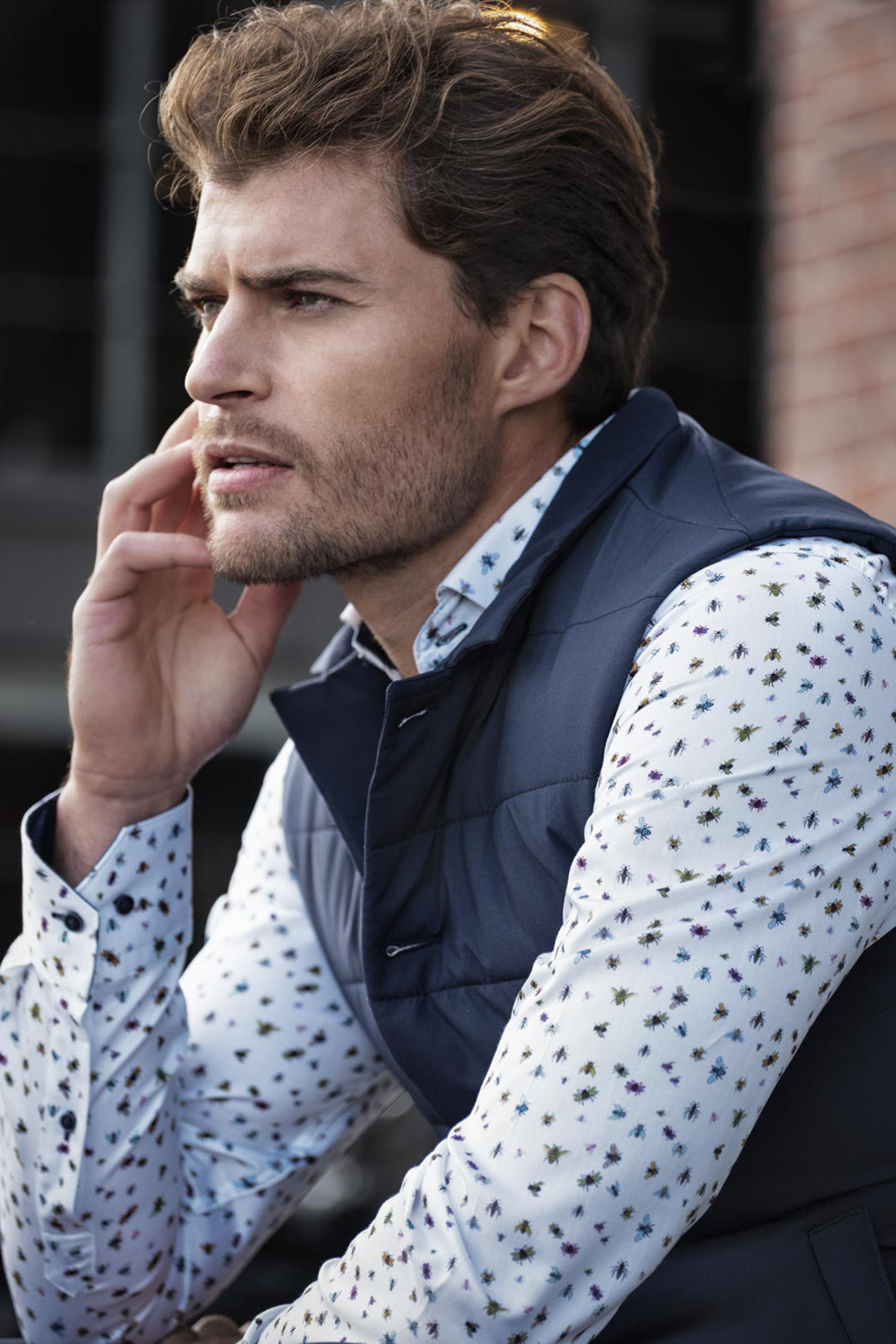 Giordano Overhemd Maggiore Insect Wit