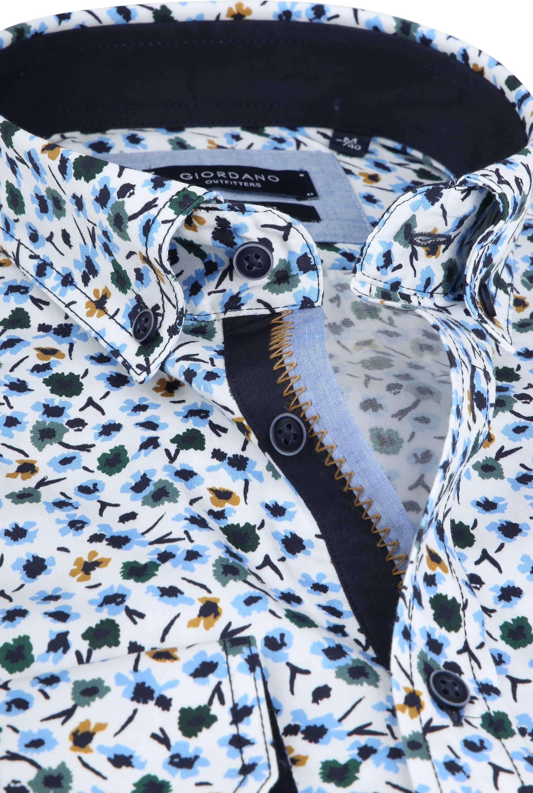 Giordano Walker Shirt Flower Blue foto 1