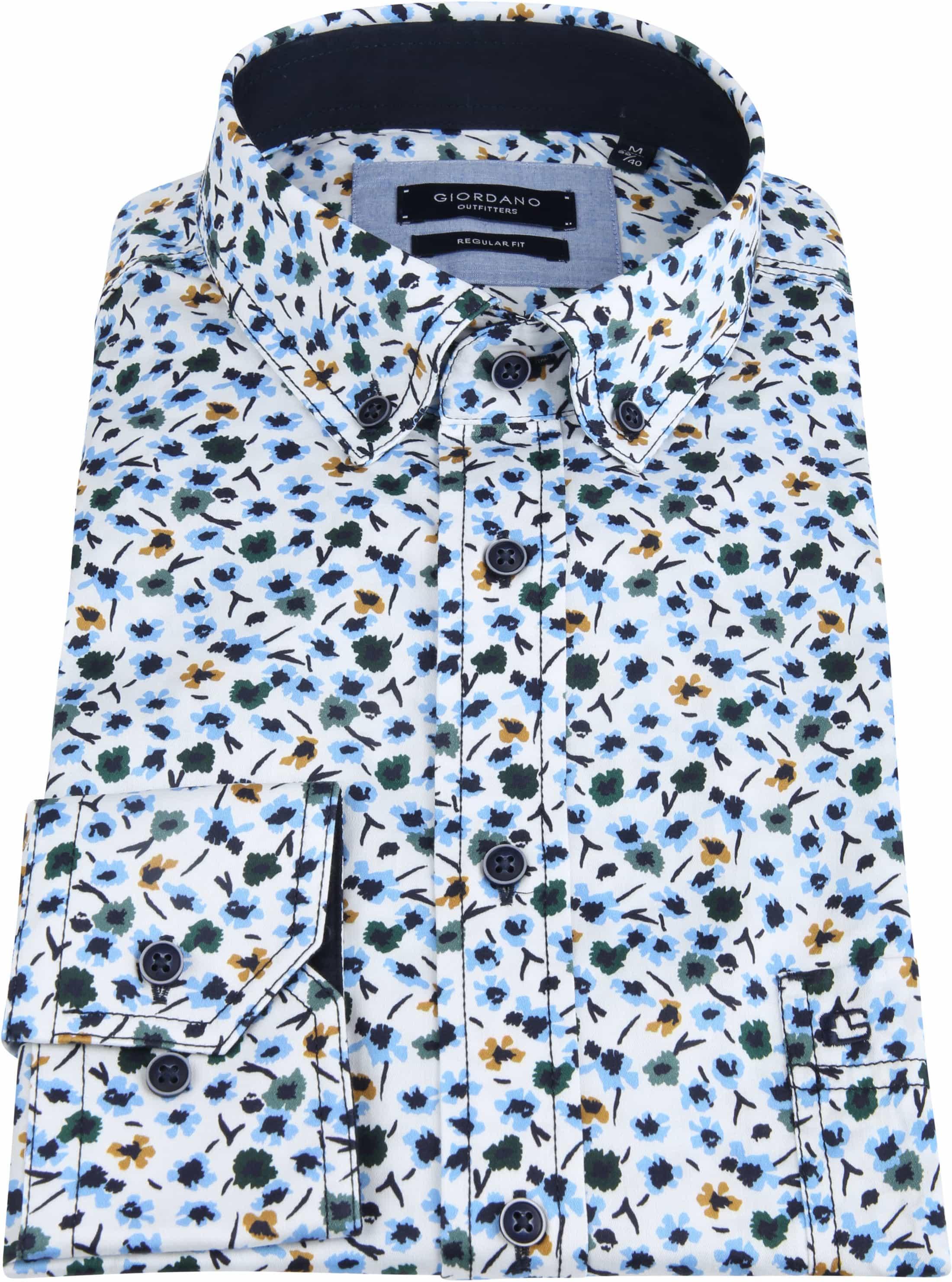 Giordano Walker Shirt Flower Blue foto 2