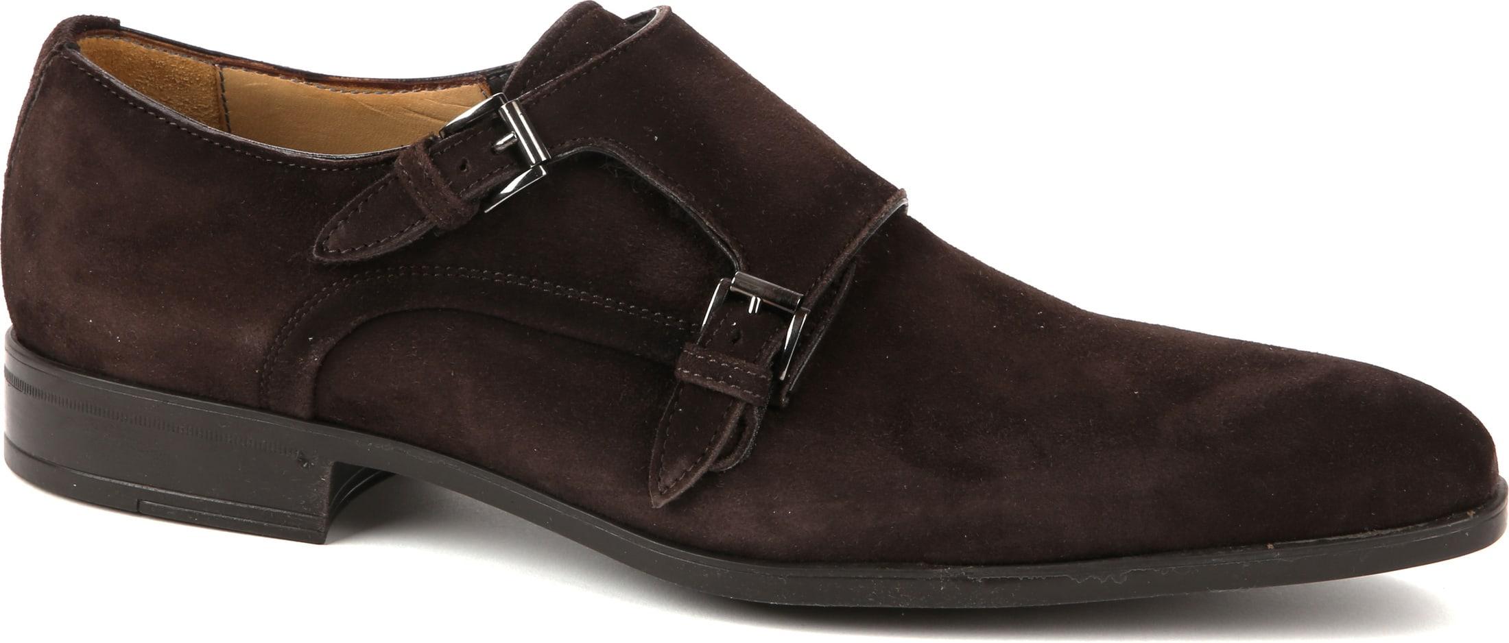 Giorgio Amalfi Shoe Monk Strap Brown Suede foto 0