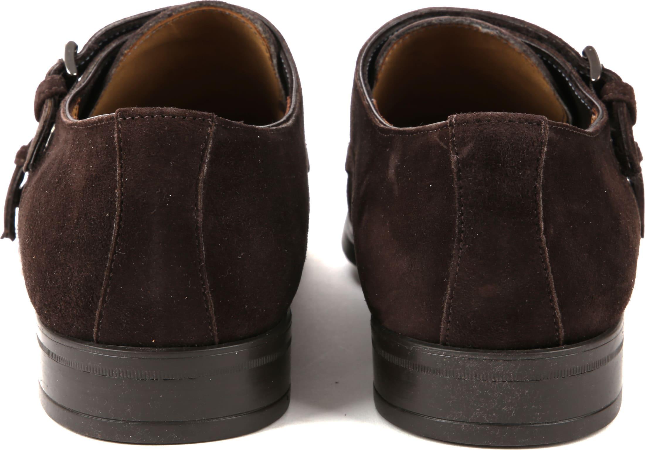 Giorgio Amalfi Shoe Monk Strap Brown Suede foto 2