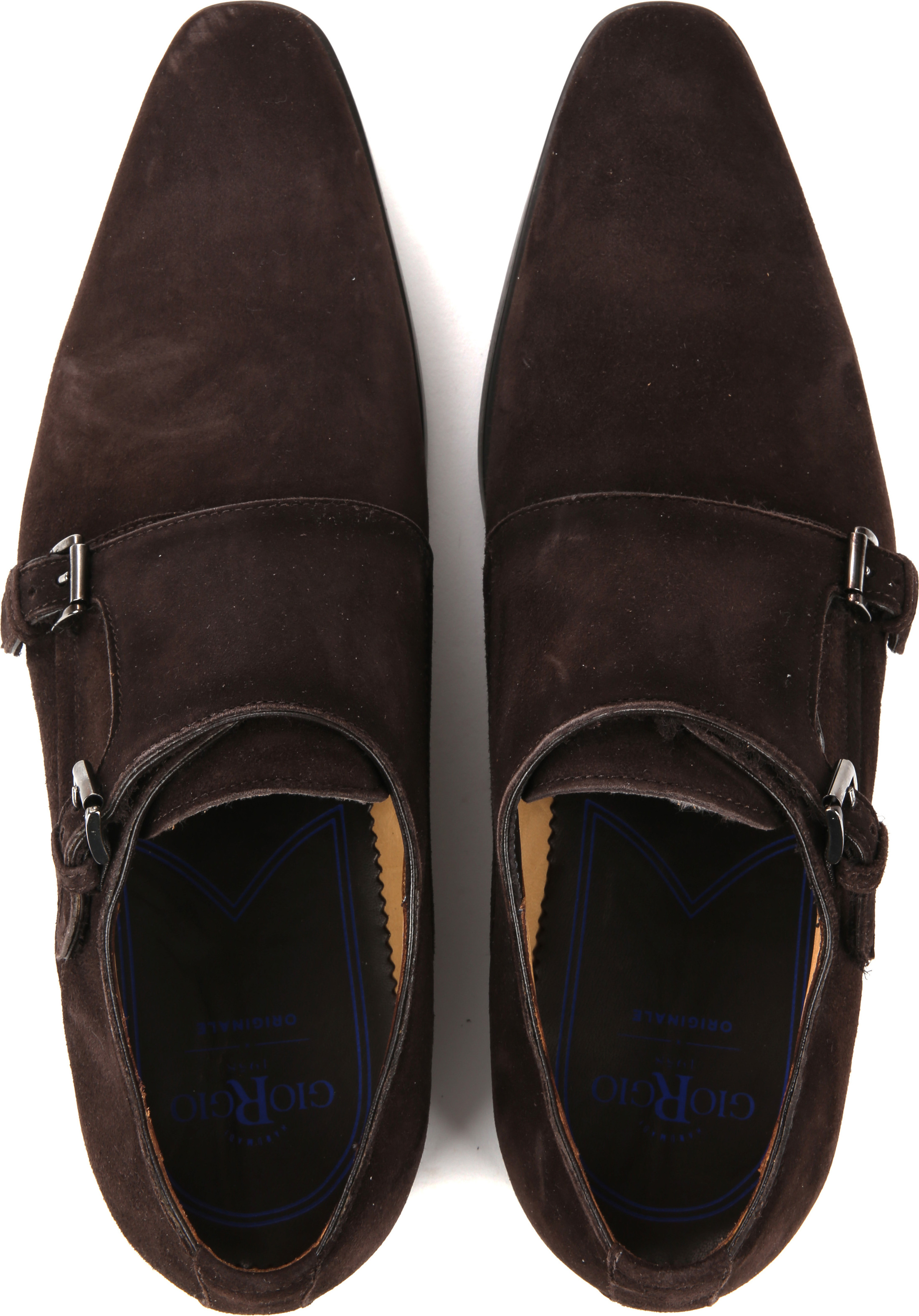 Giorgio Amalfi Shoe Monk Strap Brown Suede foto 4