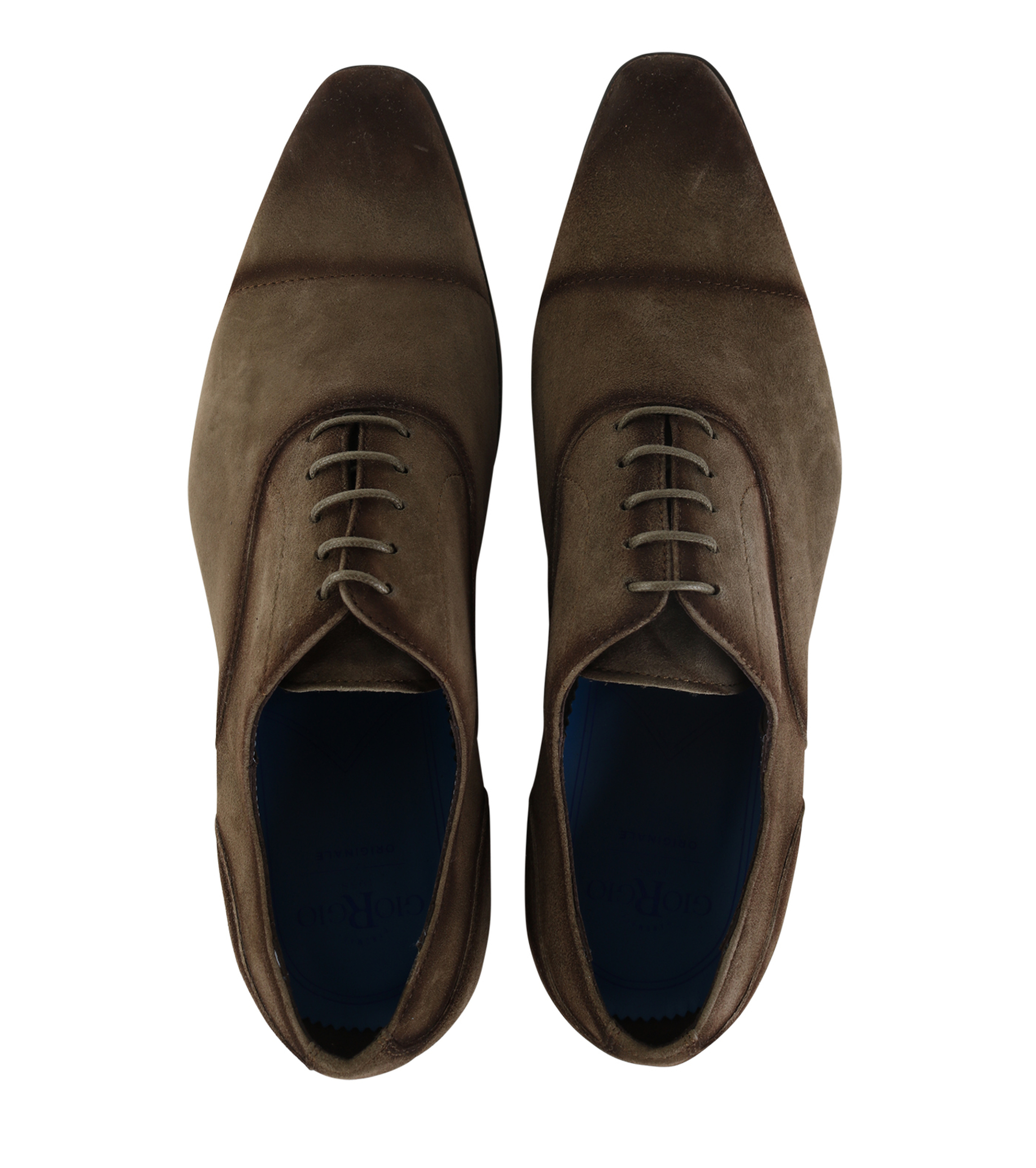 Giorgio Amalfi En Daim Chaussures À Lacets Vert 8x4s3Q
