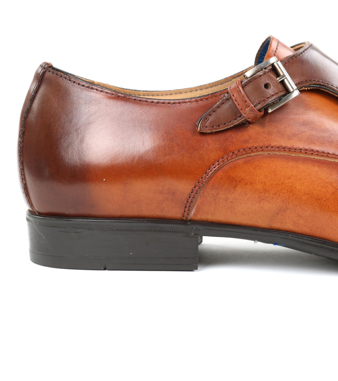 Giorgio Pub Moine Chaussures Boucle Brun bLcYO