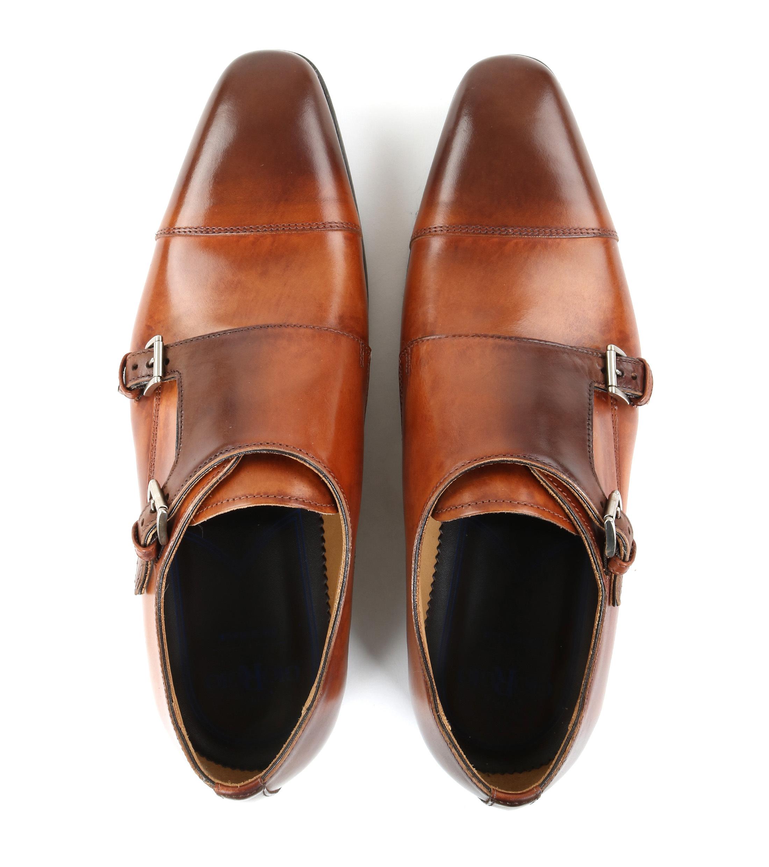 Giorgio Pub Moine Chaussures Boucle Brun lX4VP8