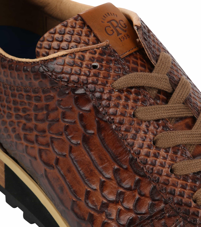 Giorgio Sneaker Anaconda Cognac foto 1