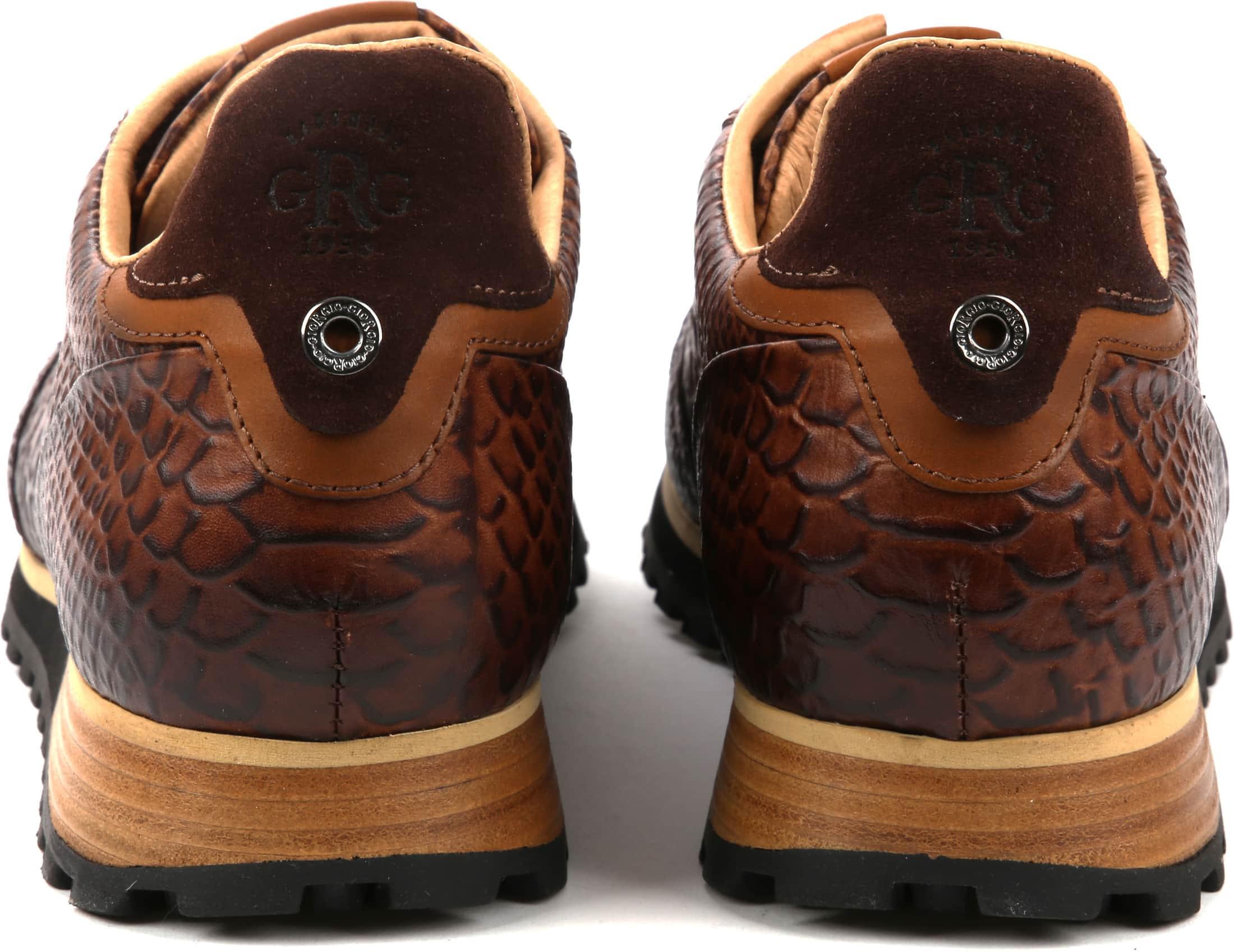 Giorgio Sneaker Anaconda Cognac foto 2