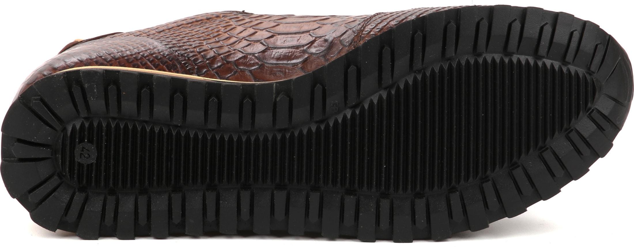 Giorgio Sneaker Anaconda Cognac foto 3