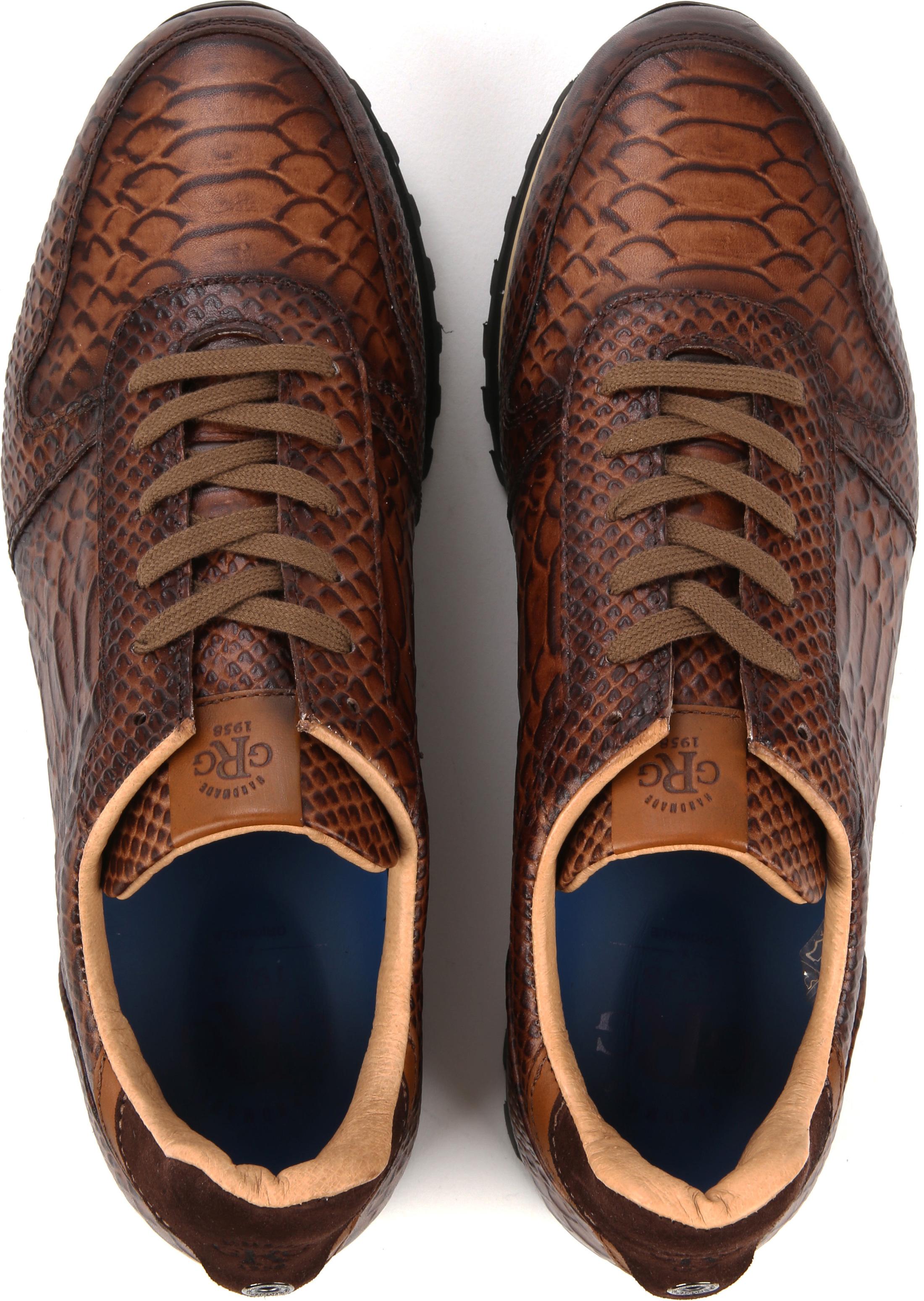 Giorgio Sneaker Anaconda Cognac foto 4