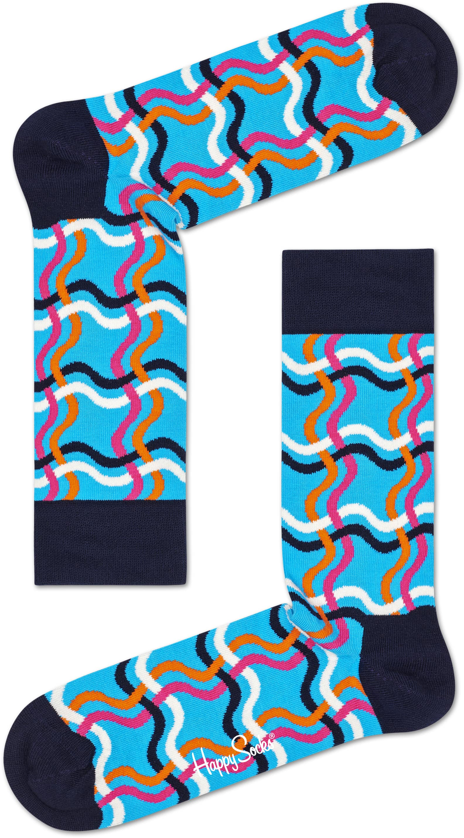 Happy Socks Squiggly Blue photo 0