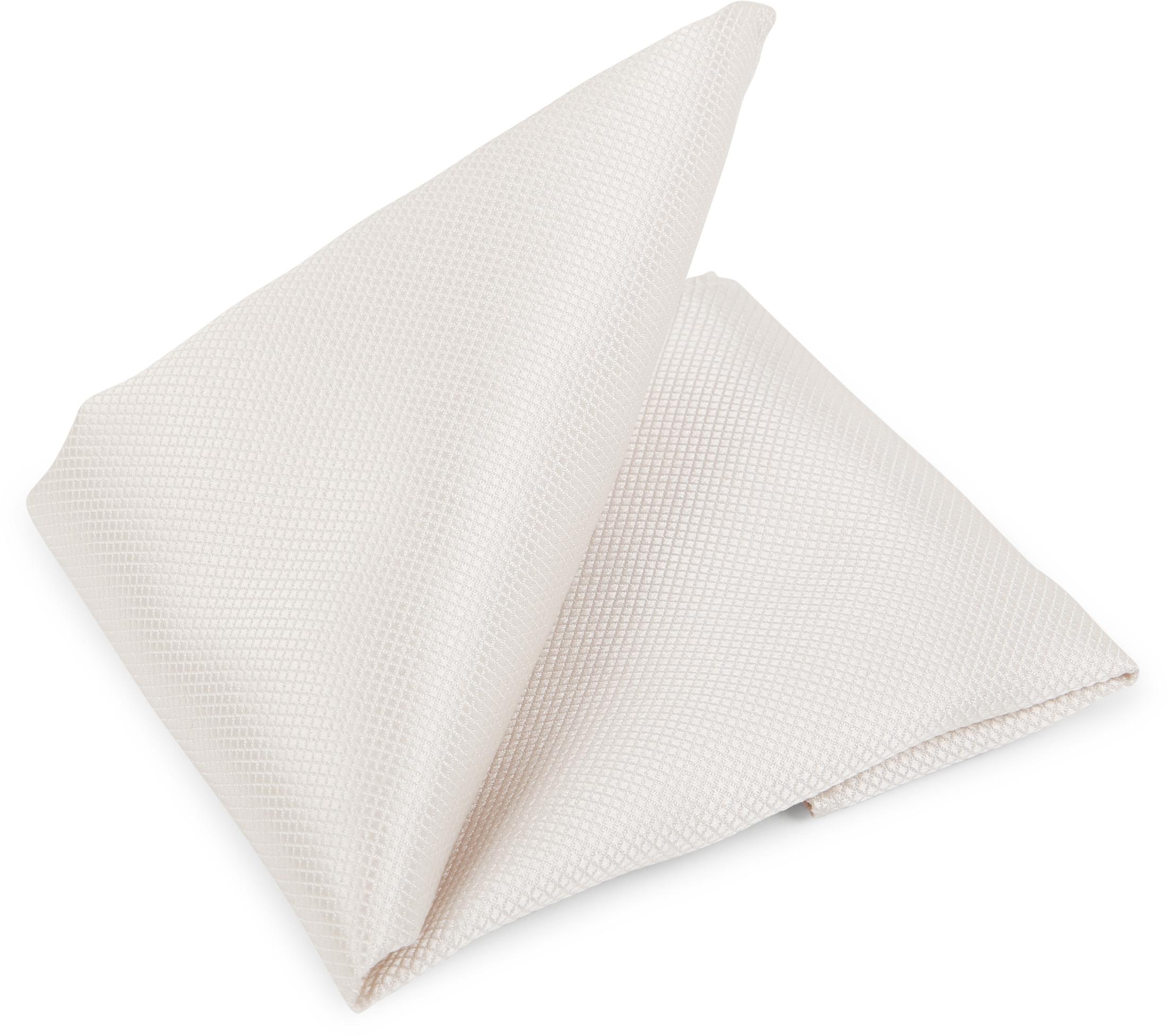 Hochzeit Krawatte + Einstecktuch Carre gebrochenes-Weiß foto 5