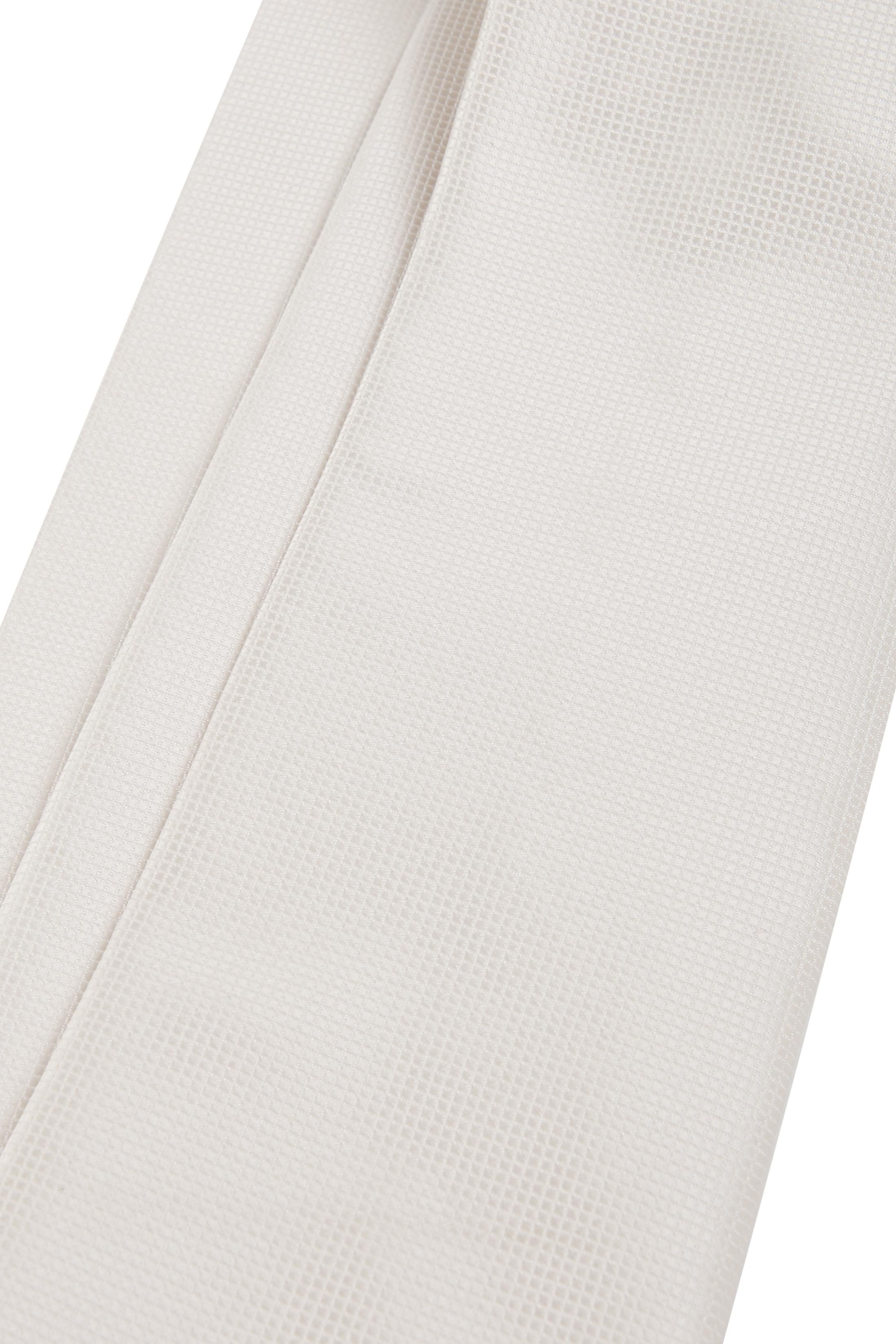 Hochzeit Krawatte + Einstecktuch Carre gebrochenes-Weiß foto 3