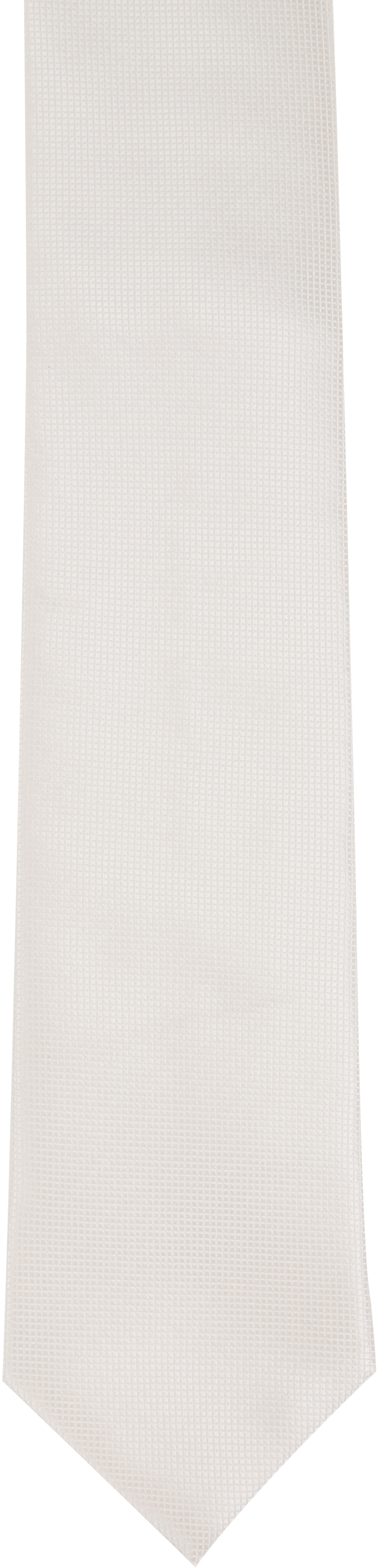 Hochzeit Krawatte + Einstecktuch Carre gebrochenes-Weiß foto 2