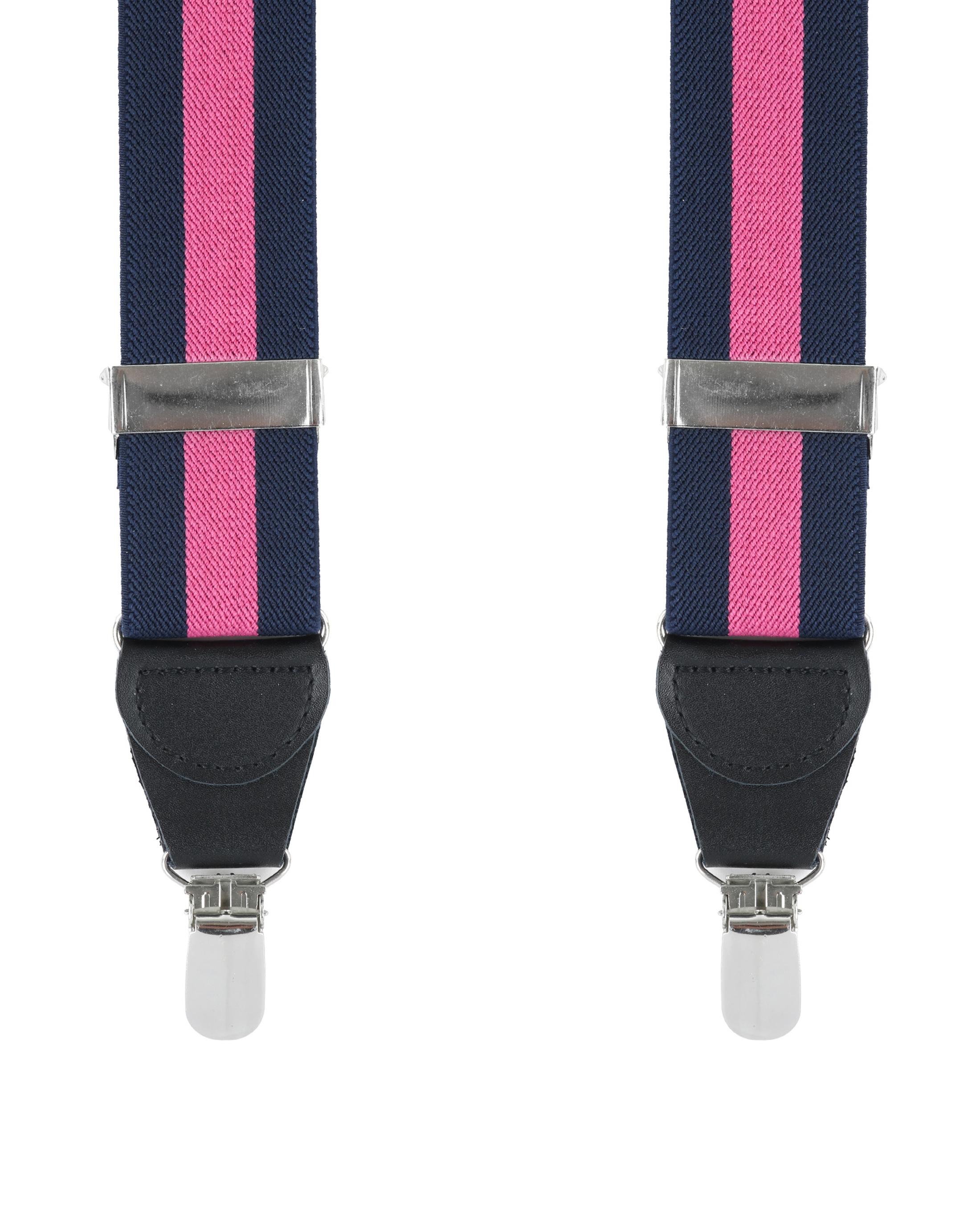 Hosenträger Navy Pink Streifen foto 0