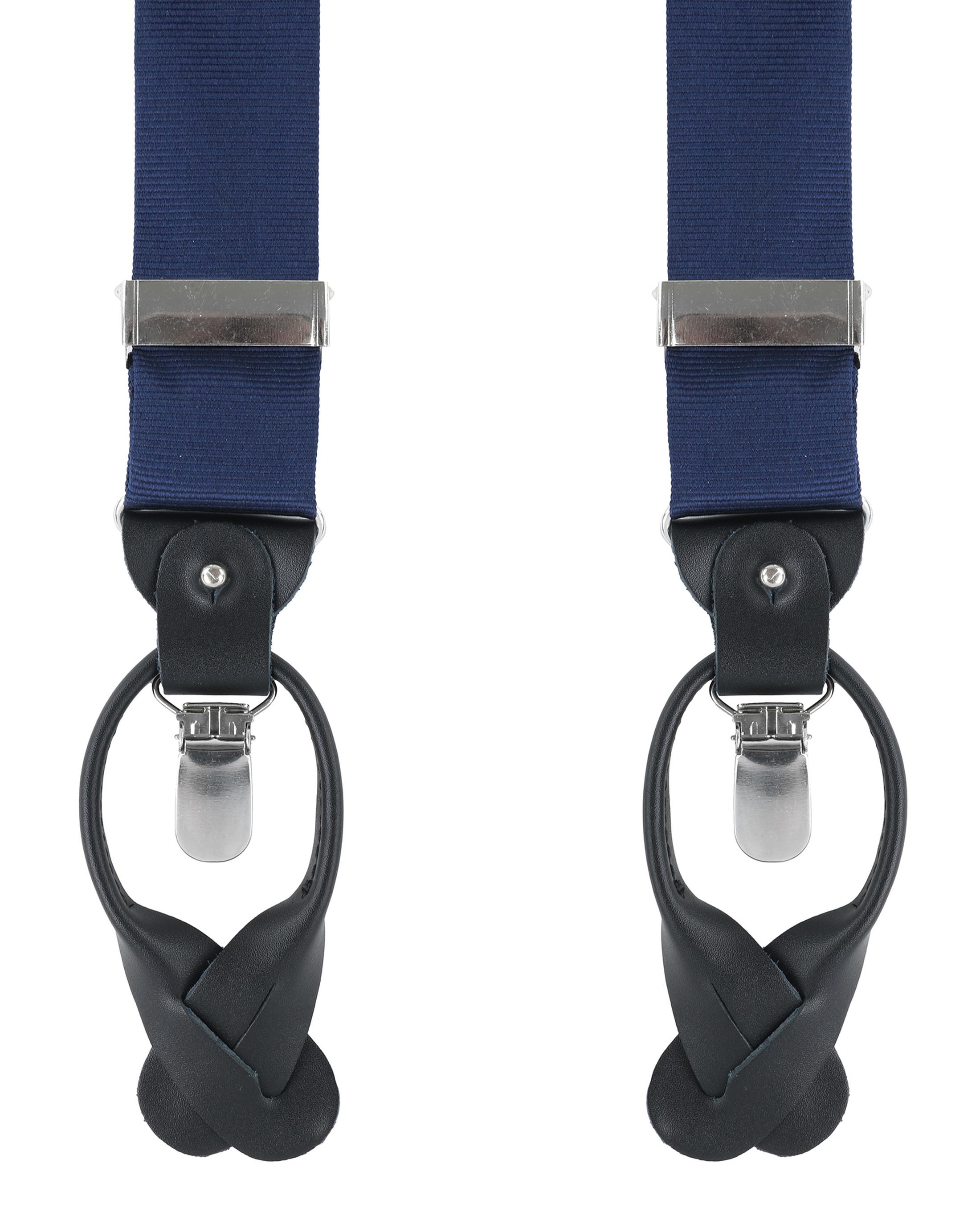 Hosenträger Seide Marineblau F35 foto 0