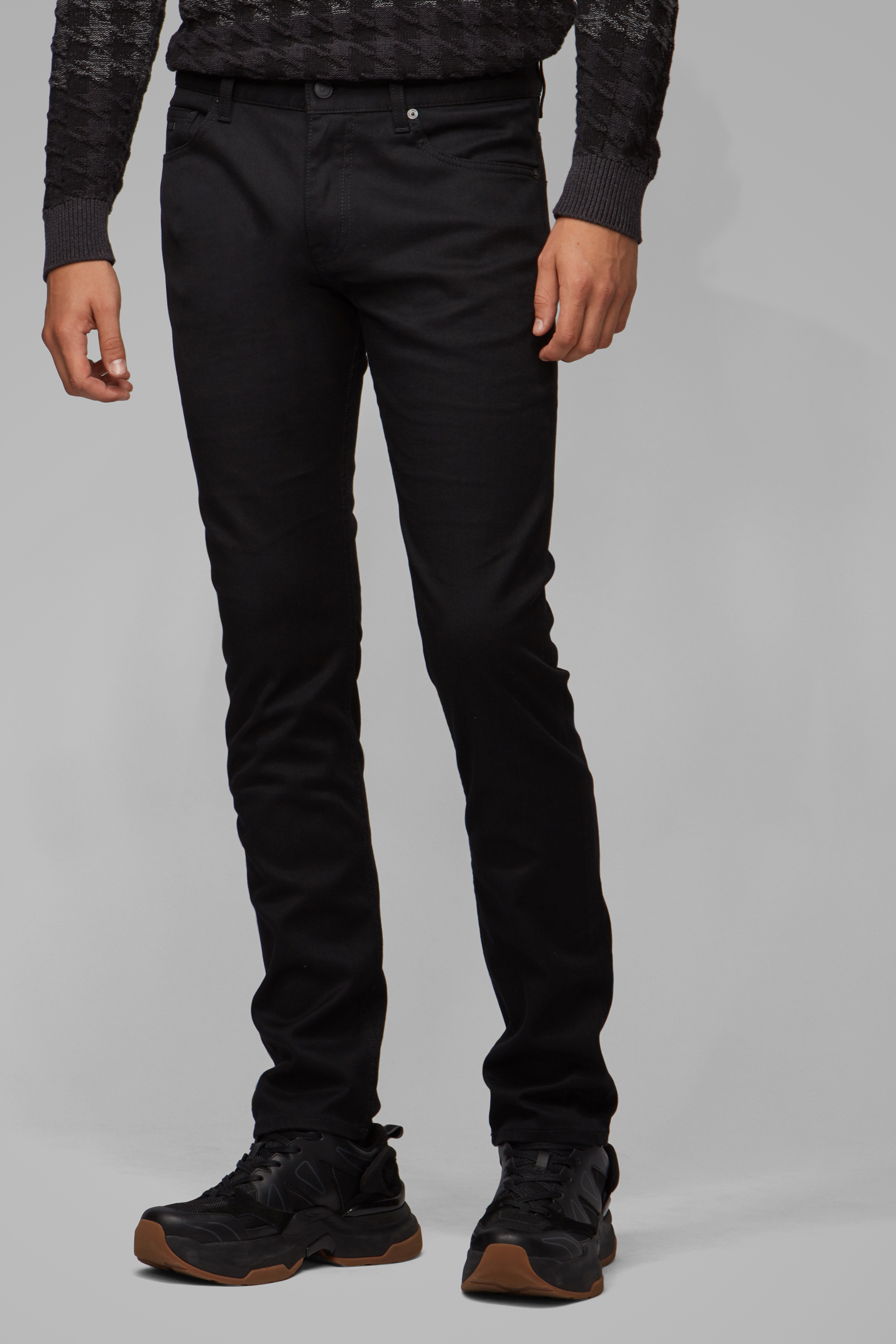 Hugo Boss Delaware Rinse Washed Jeans Zwart