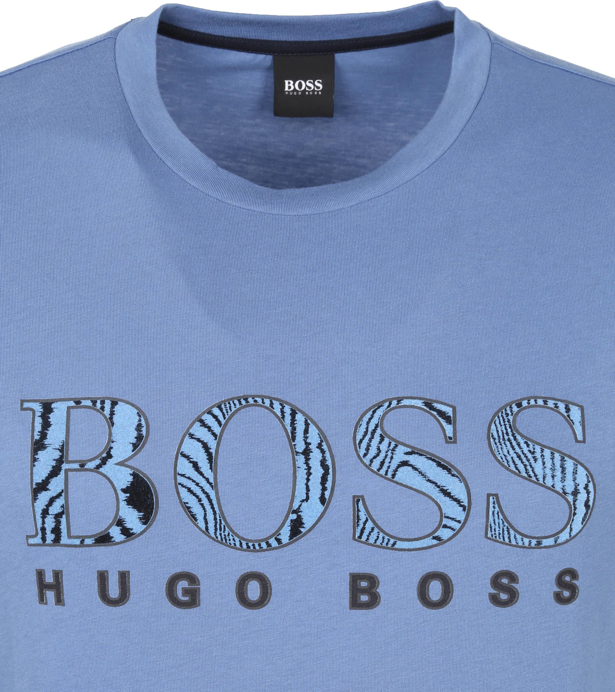 Hugo Boss T-shirt Logo 21 Blauw