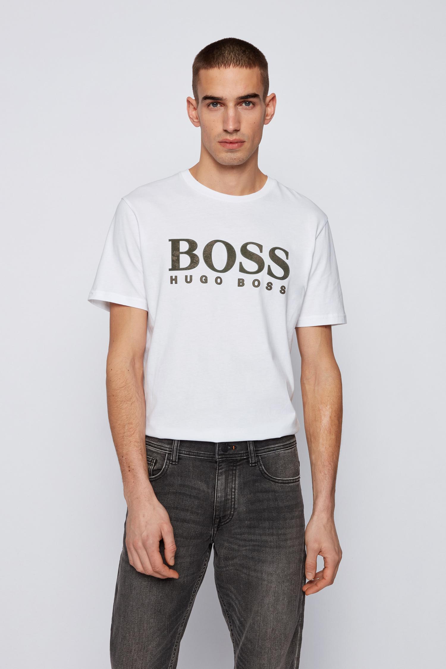Hugo Boss T-shirt Logo 21 Wit