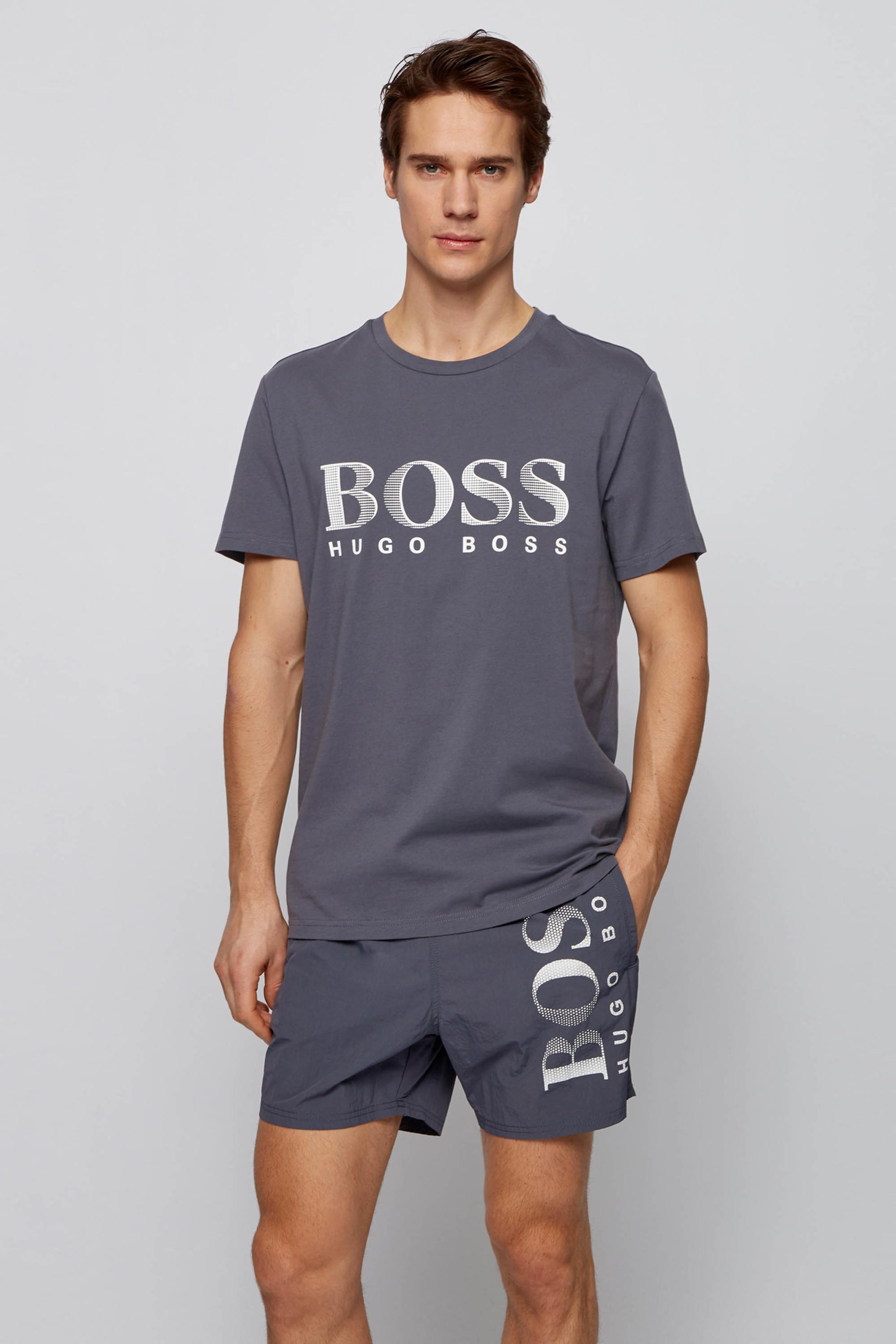 Hugo Boss T-shirt UV-Protection Donkergrijs