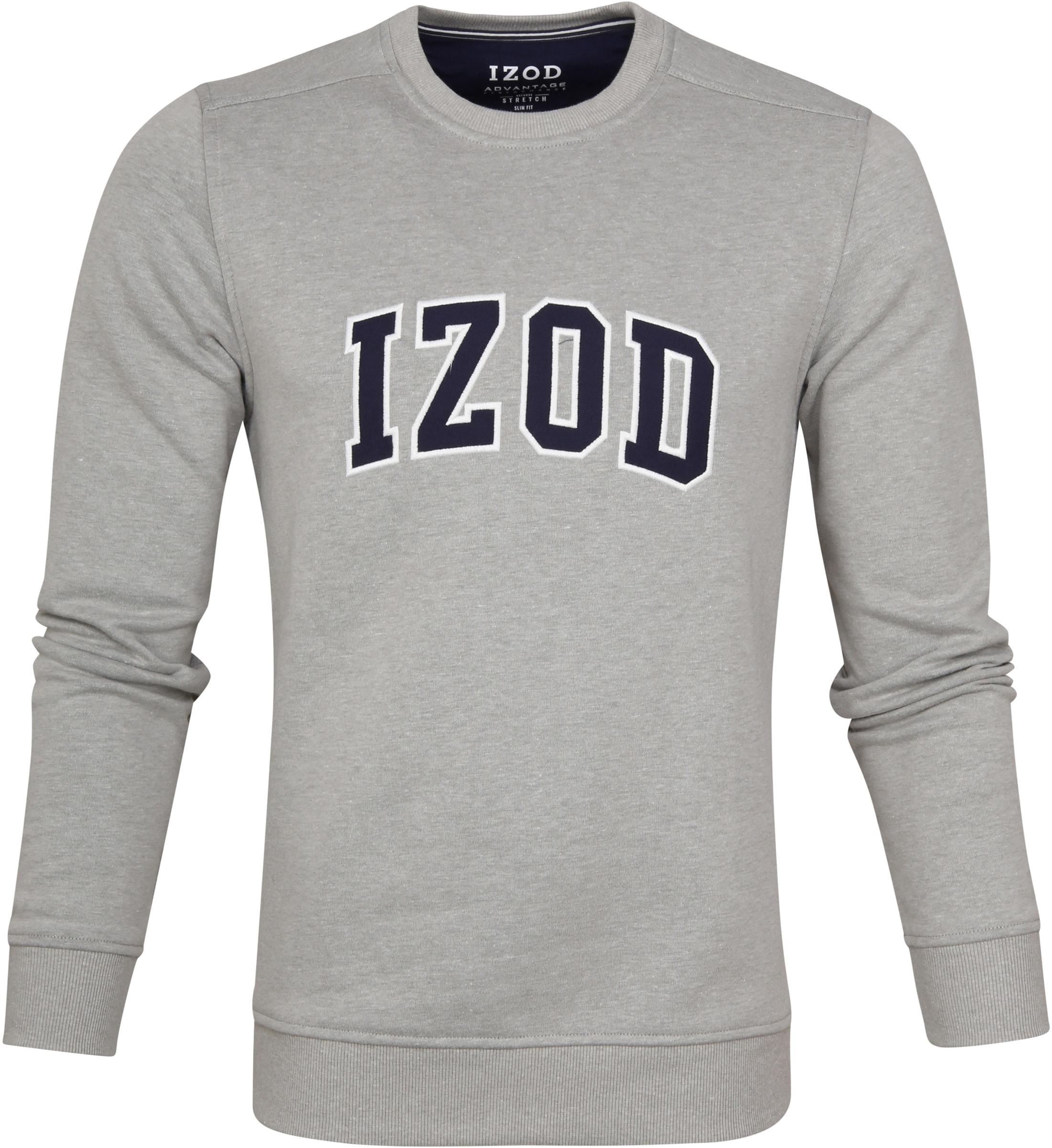 IZOD Fleece Sweater Sport Flex Hellgrau foto 0