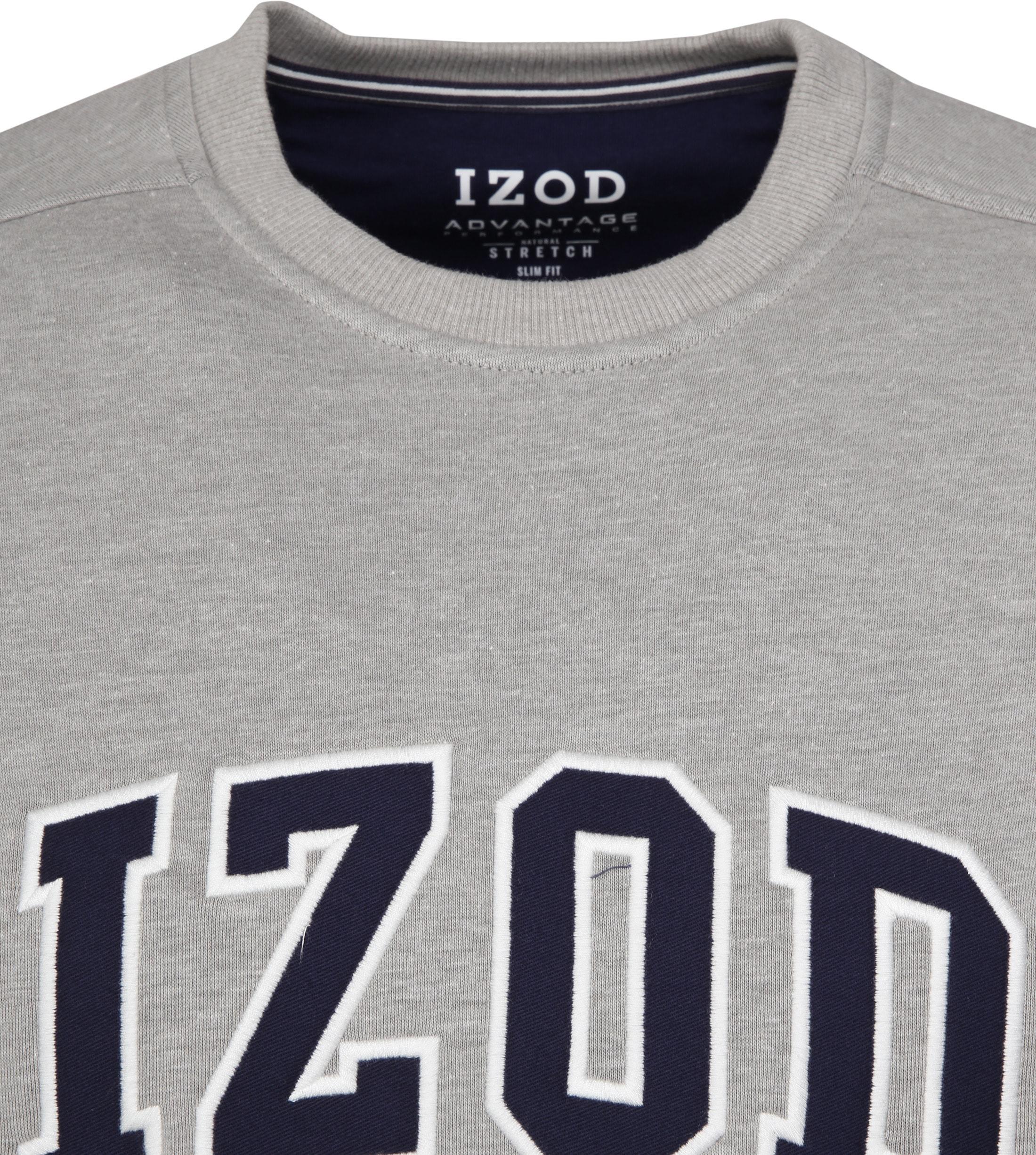 IZOD Fleece Sweater Sport Flex Hellgrau foto 1