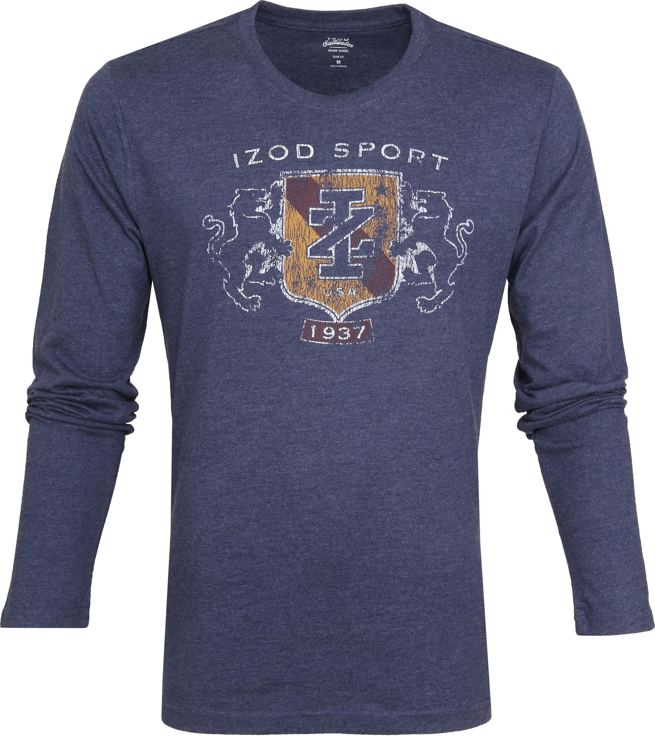 IZOD T-shirt LS Logo Blue foto 0