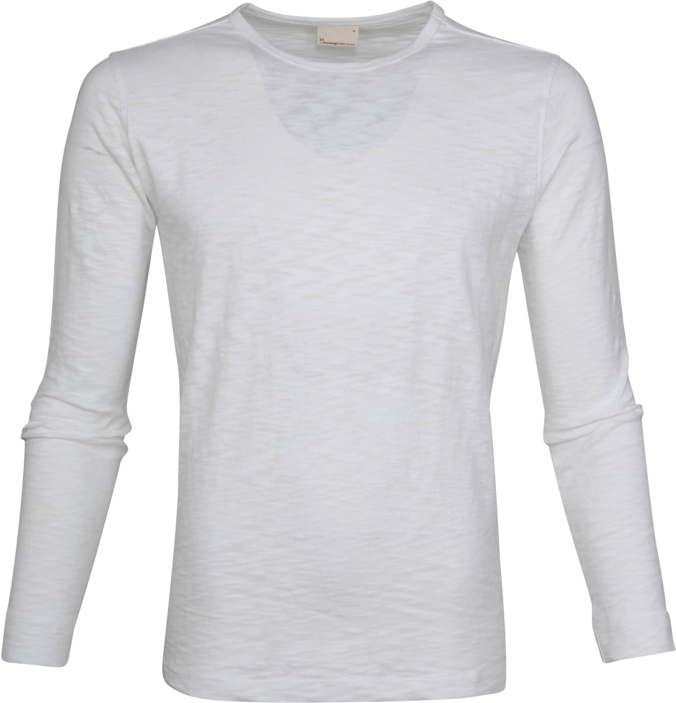 Knowledge Cotton Apparel LS T-shirt Wit foto 0
