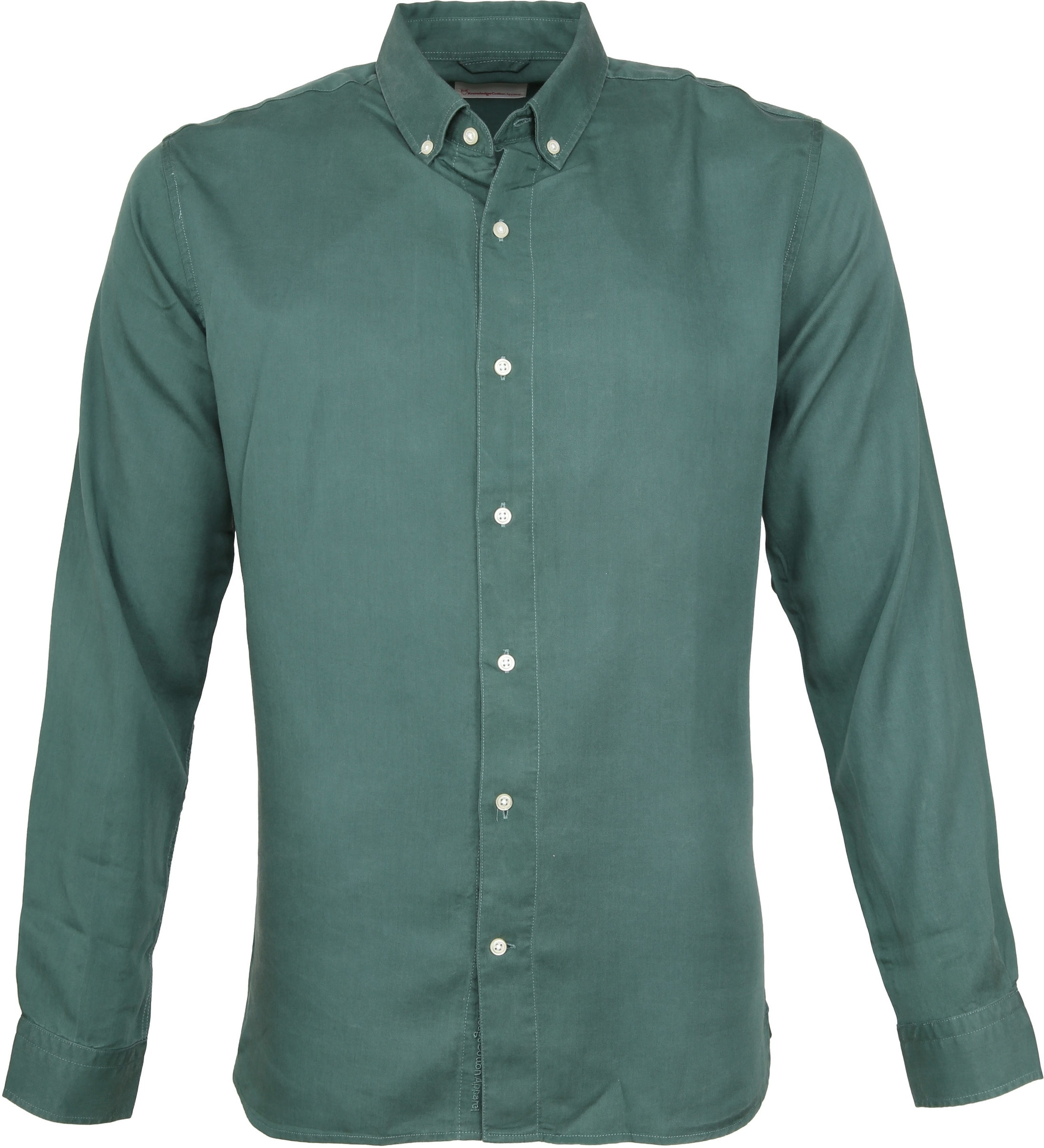 Knowledge Cotton Apparel Overhemd Groen foto 0