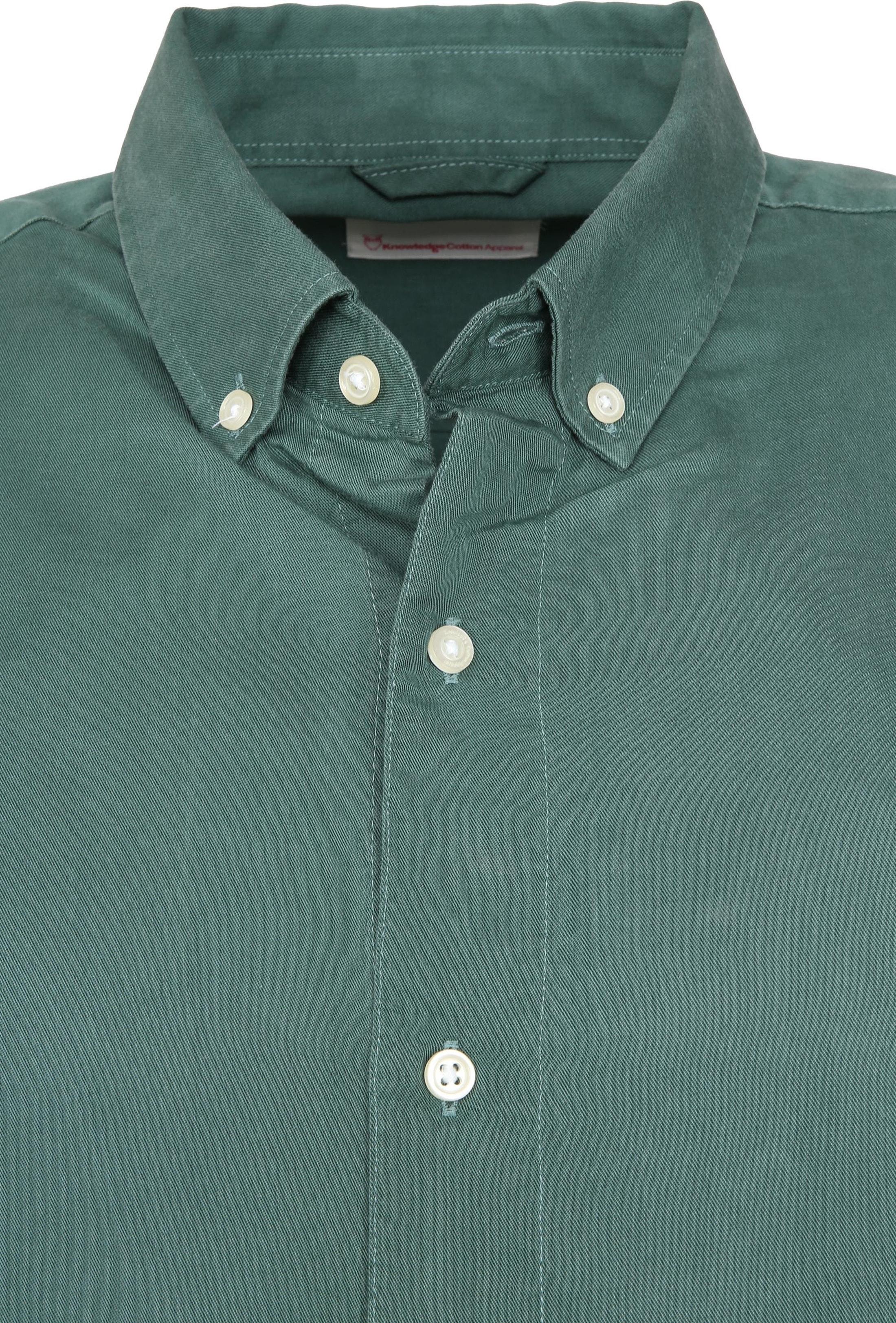 Knowledge Cotton Apparel Overhemd Groen foto 2