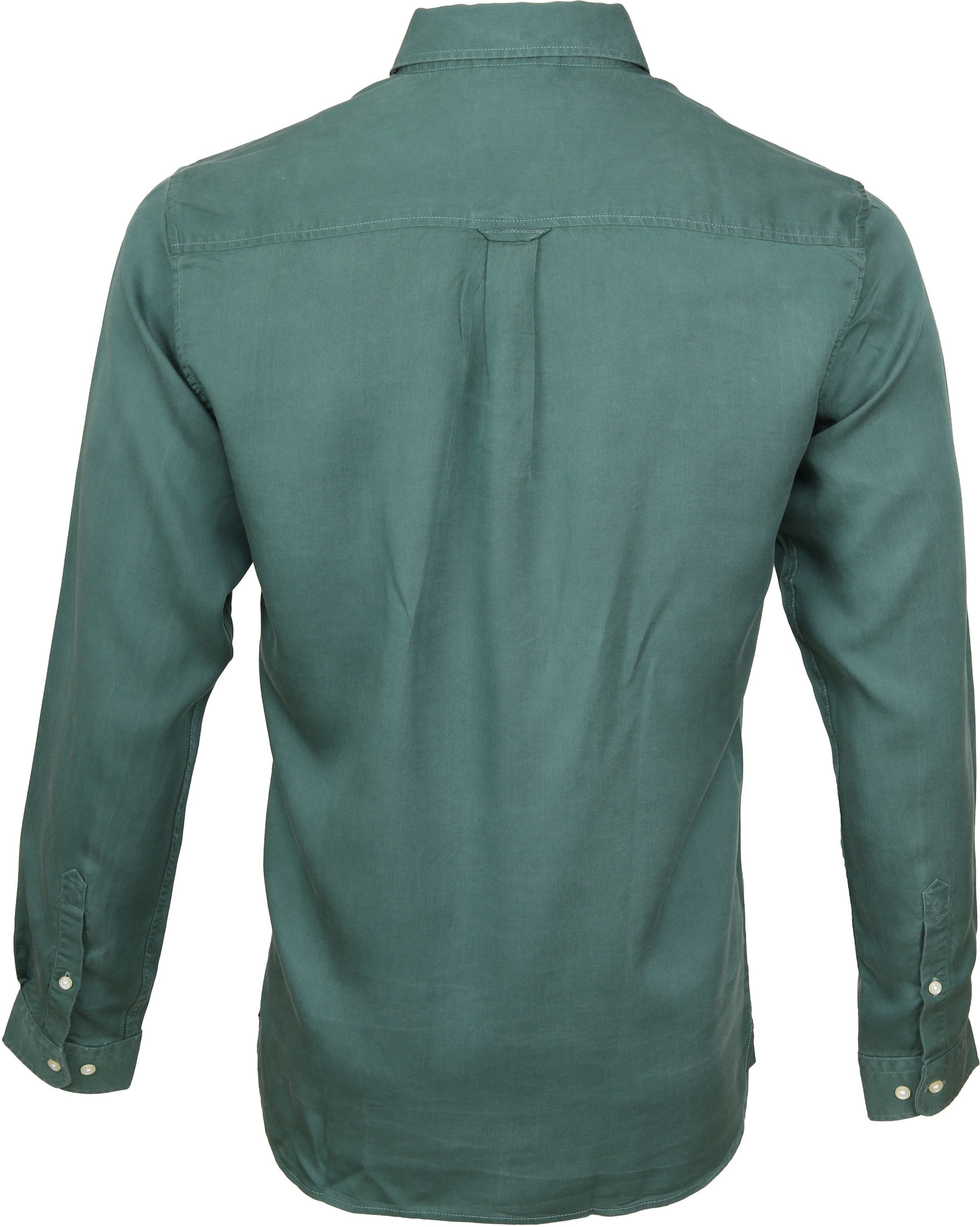 Knowledge Cotton Apparel Overhemd Groen foto 3