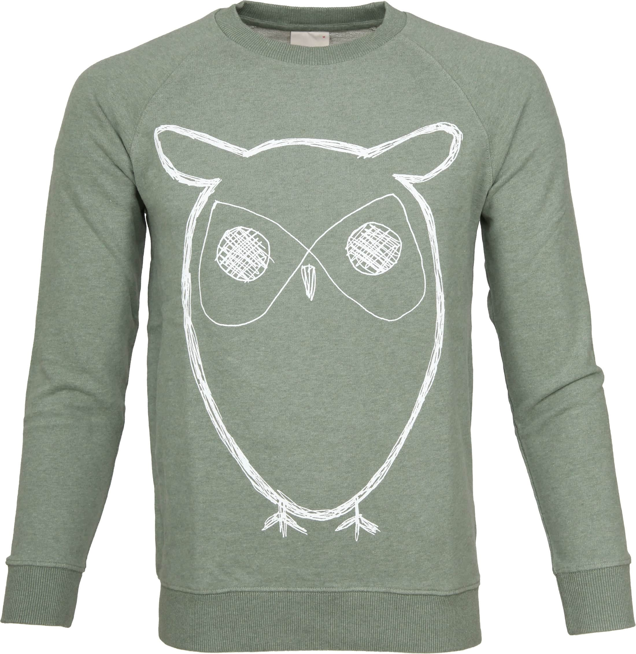 Knowledge Cotton Apparel Owl Groen foto 0