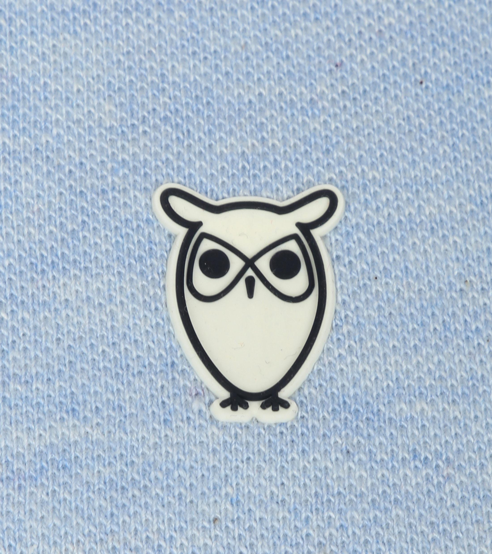 Knowledge Cotton Apparel Polo Lichtblauw foto 1