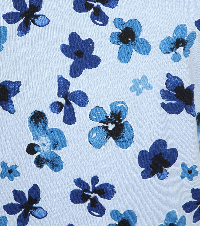 Knowledge Cotton Apparel T-shirt Bloemen Blauw foto 1
