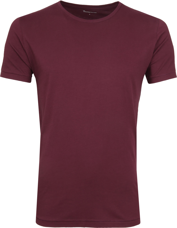 Wonderbaar Knowledge Cotton Apparel T-Shirt Bordeaux 10113 Bordo online MF-85