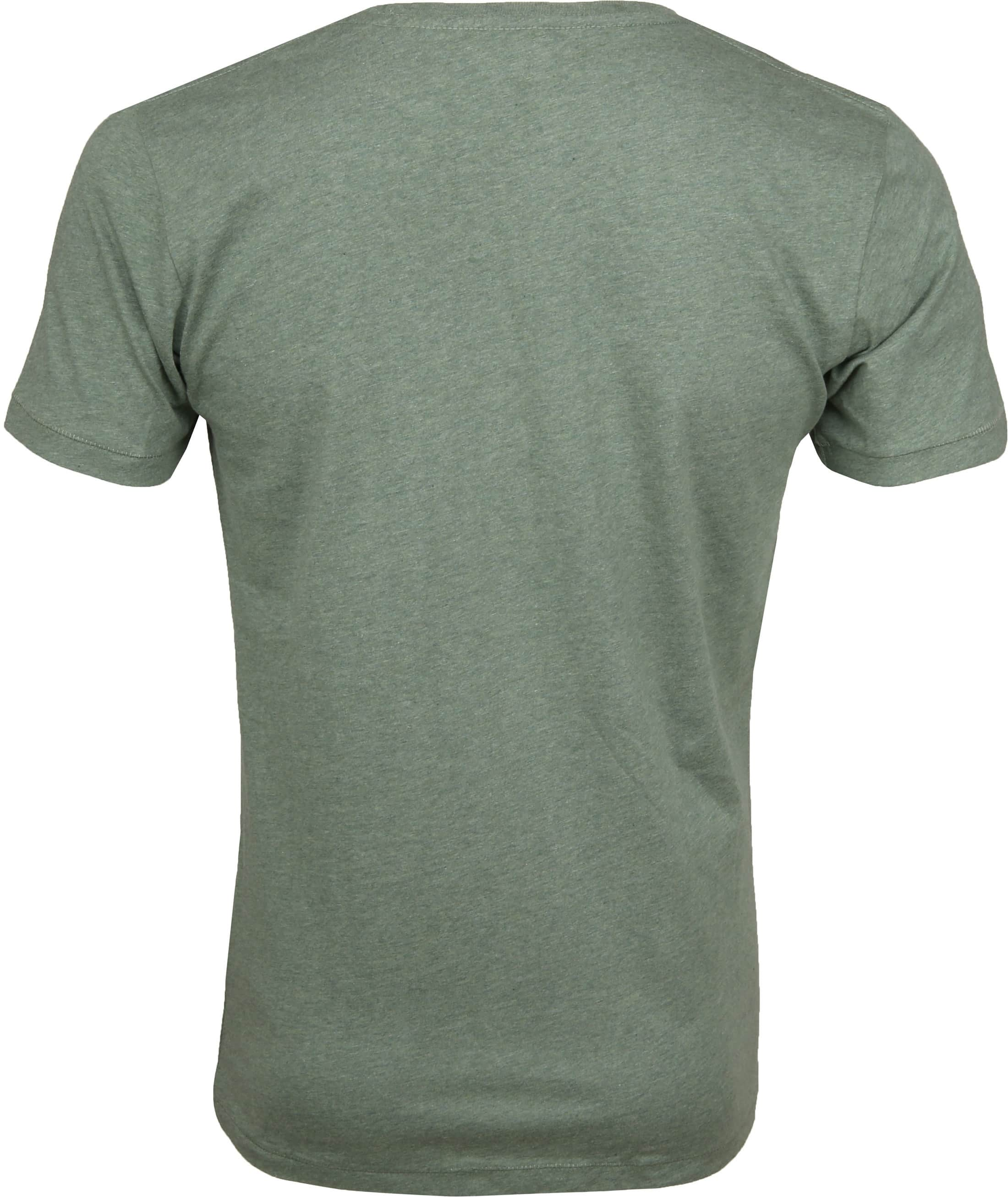 Knowledge Cotton Apparel T-Shirt Groen foto 2