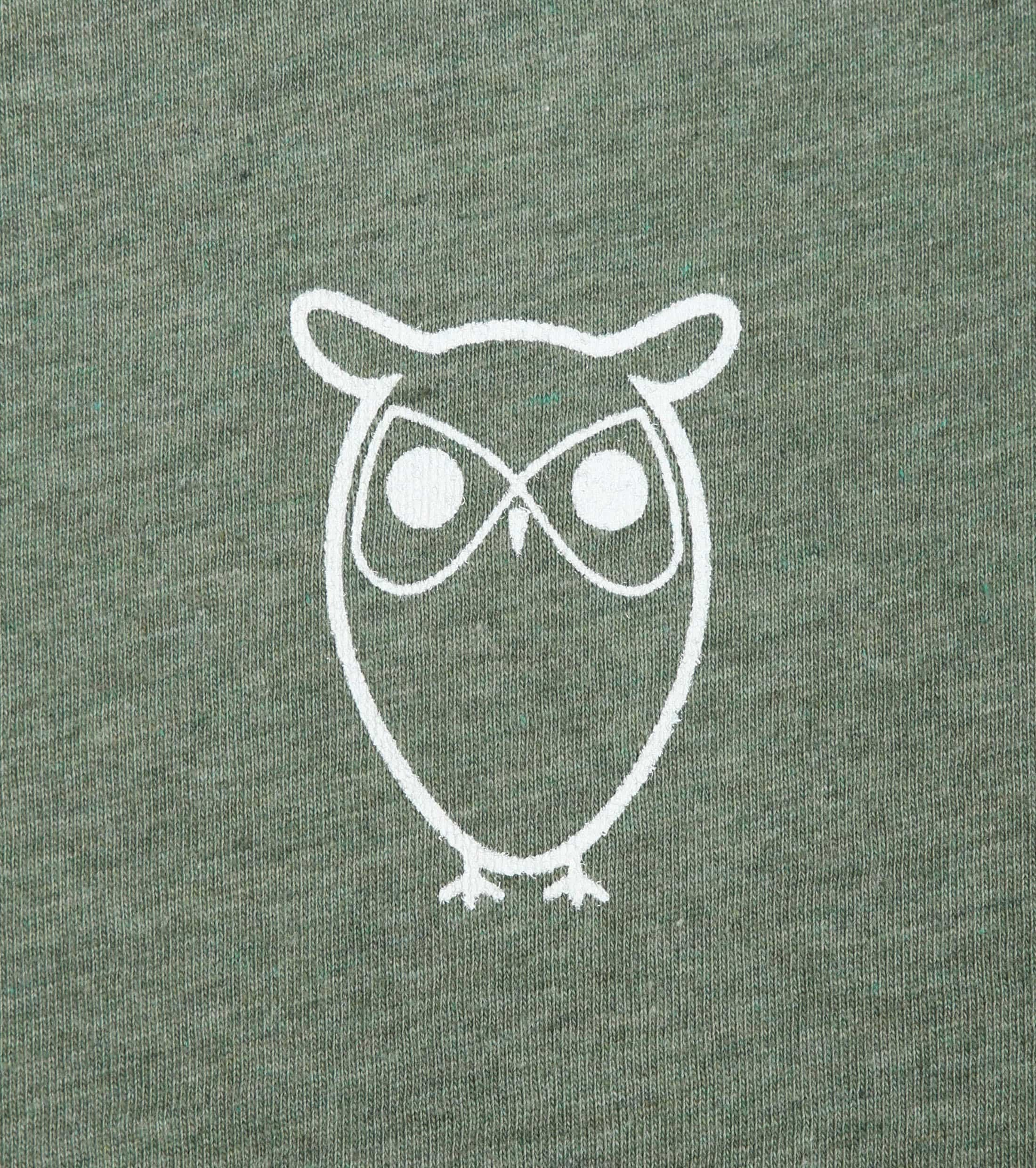 Knowledge Cotton Apparel T-shirt Owl Green foto 1