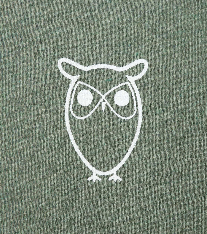 Knowledge Cotton Apparel T-shirt Owl Green foto 1