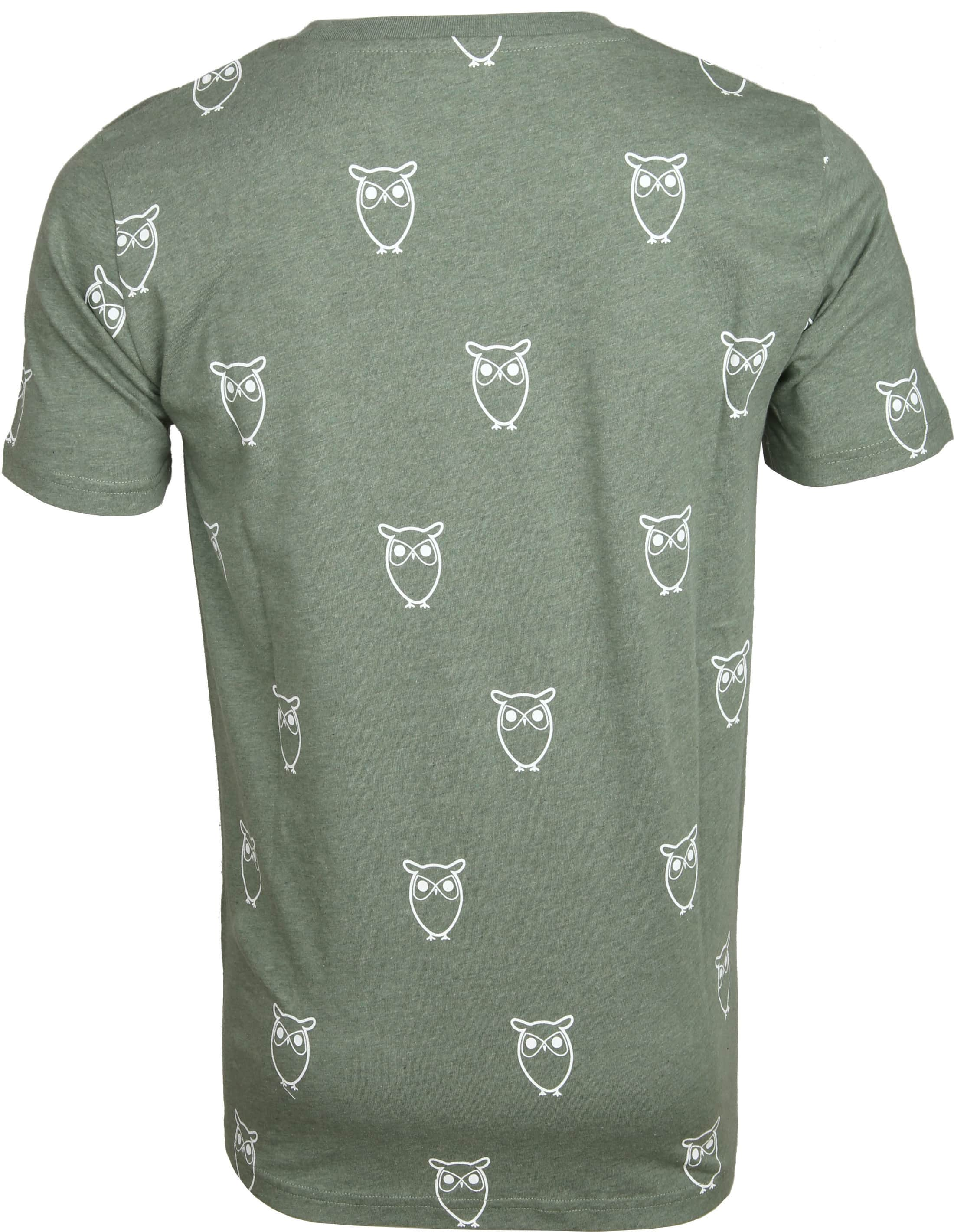 Knowledge Cotton Apparel T-shirt Owl Green foto 2