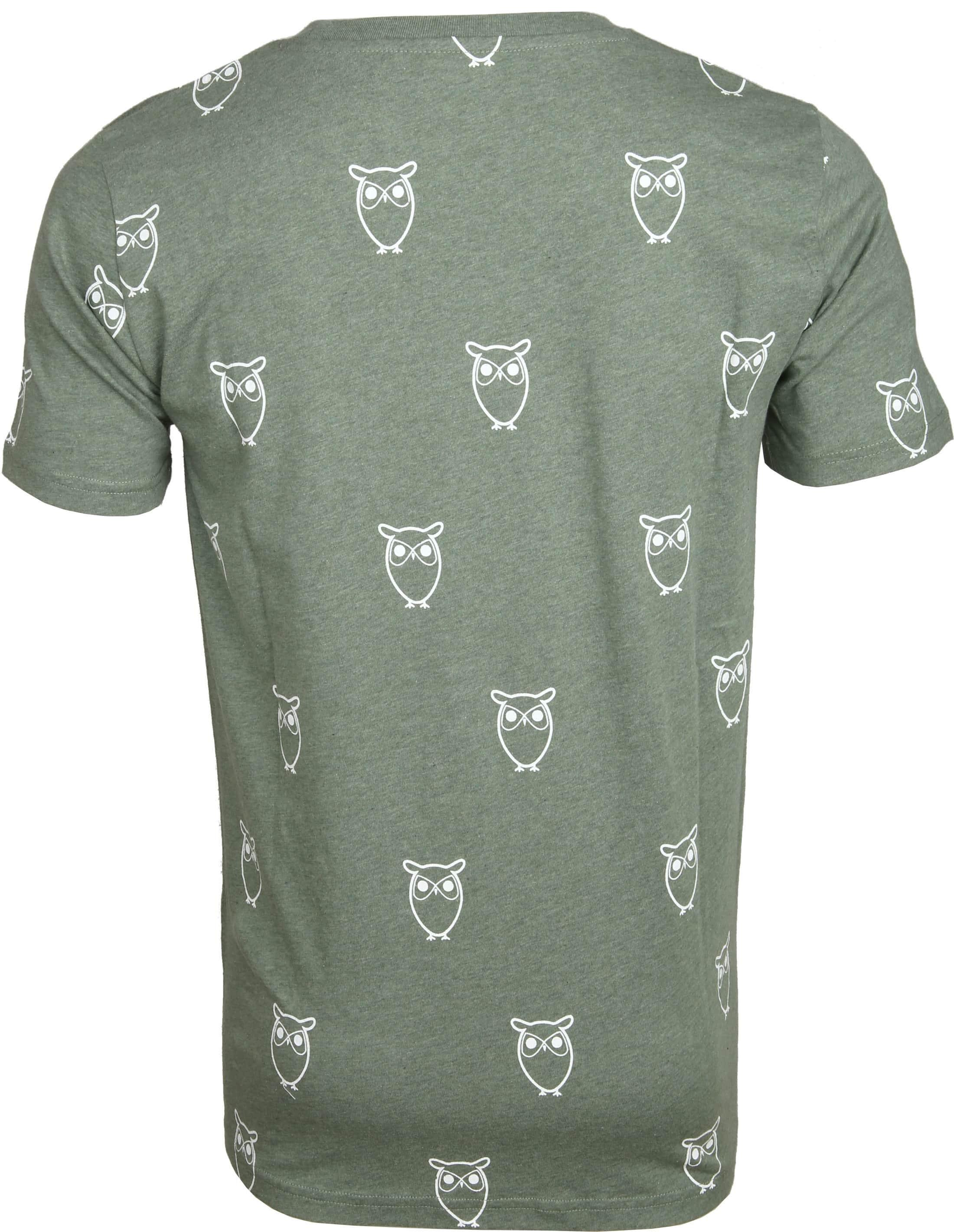 Knowledge Cotton Apparel T-shirt Owl Green foto 2