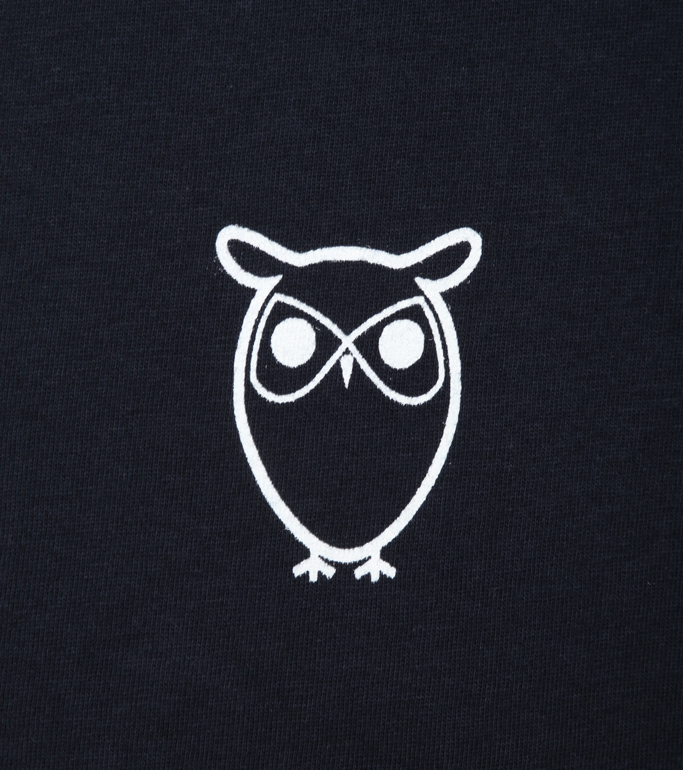 Knowledge Cotton Apparel T-shirt Owl Navy foto 1