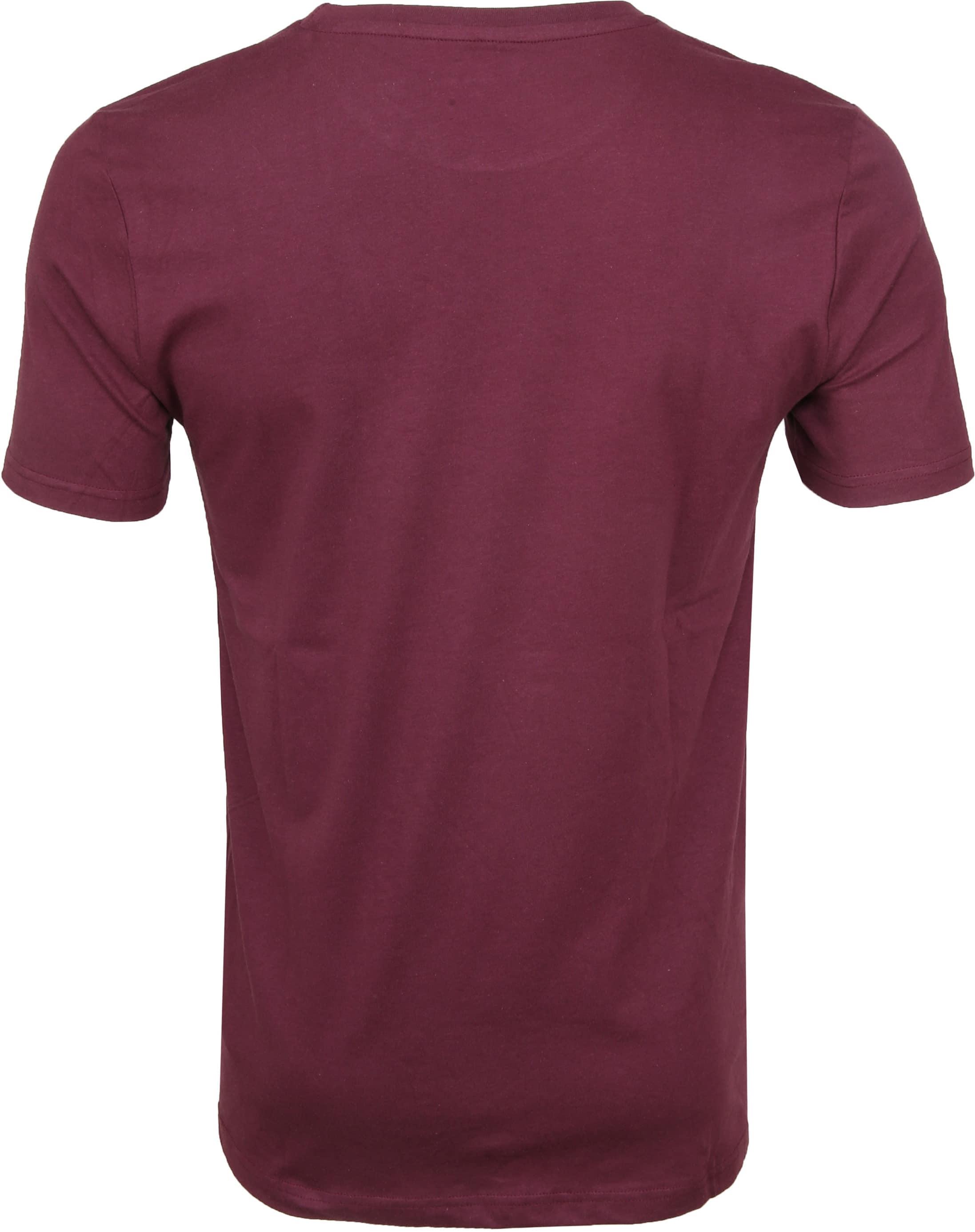 Knowledge Cotton Apparel T-shirt Print Bordeaux foto 2