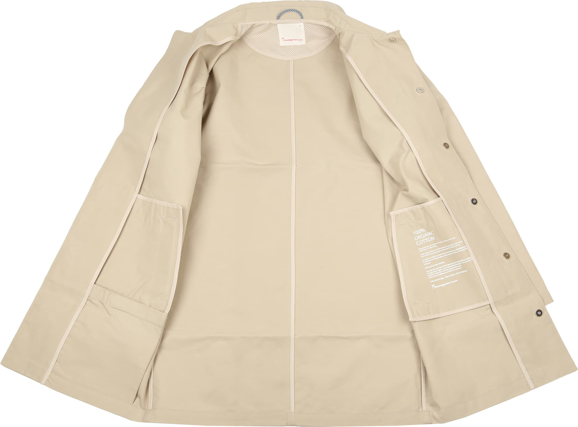 KnowledgeCotton Apparel Carcoat Beige