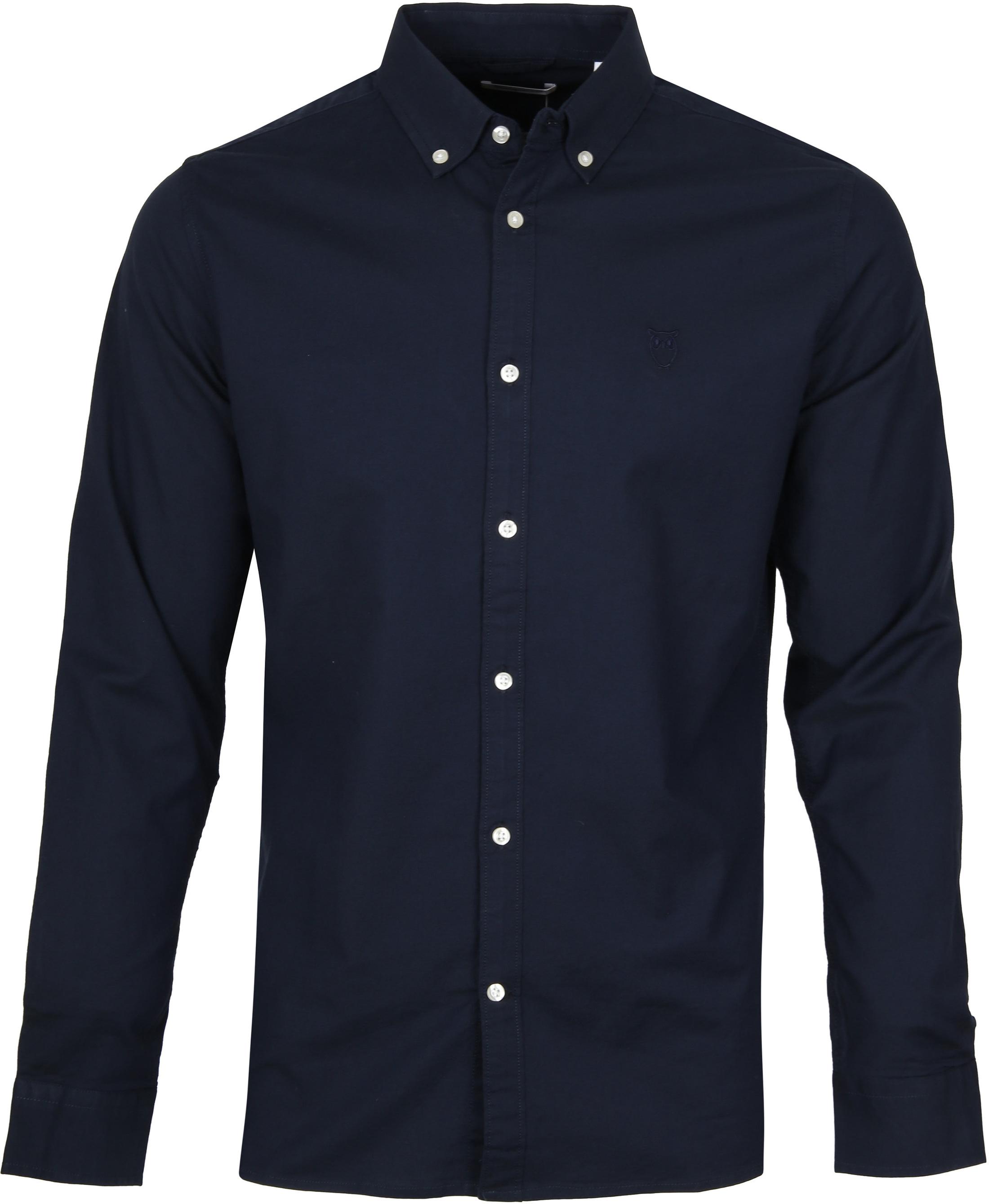 KnowledgeCotton Apparel Navy Overhemd