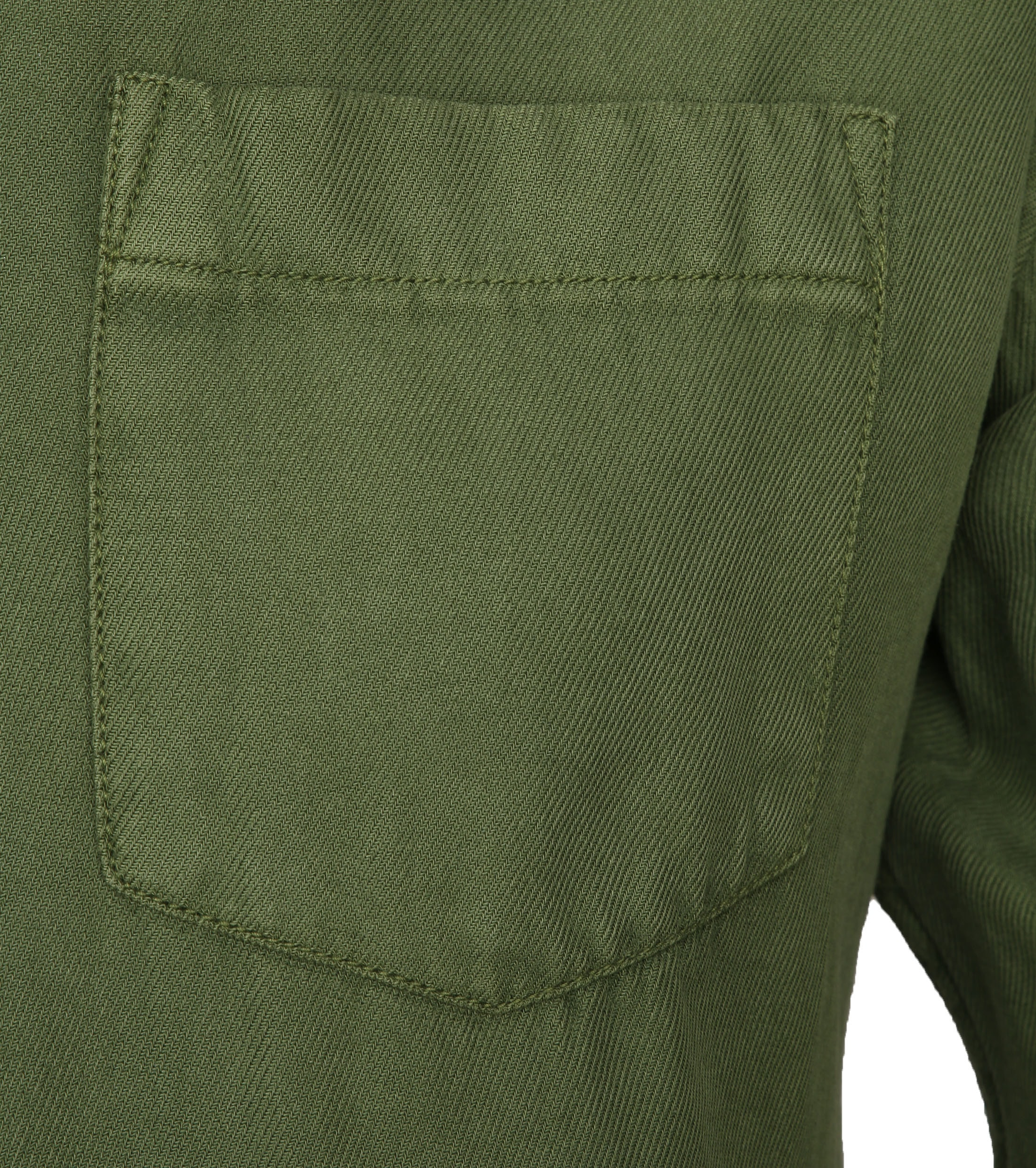 KnowledgeCotton Apparel Overhemd Twill Groen foto 2