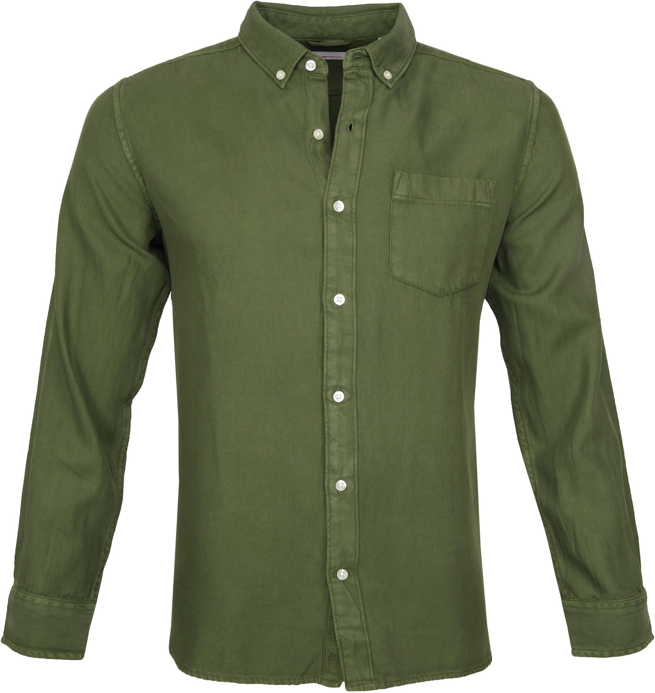 KnowledgeCotton Apparel Shirt Twill Green photo 0